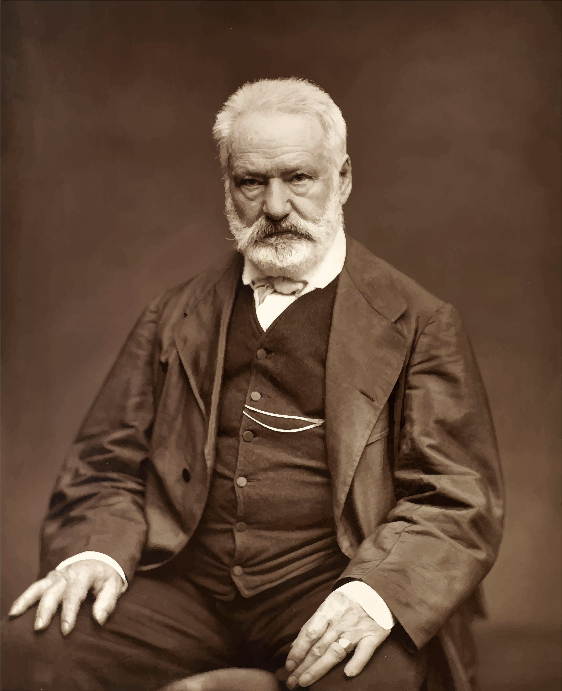 Victor Hugo Portrait By Etienne Carjat 1876 by GDJ