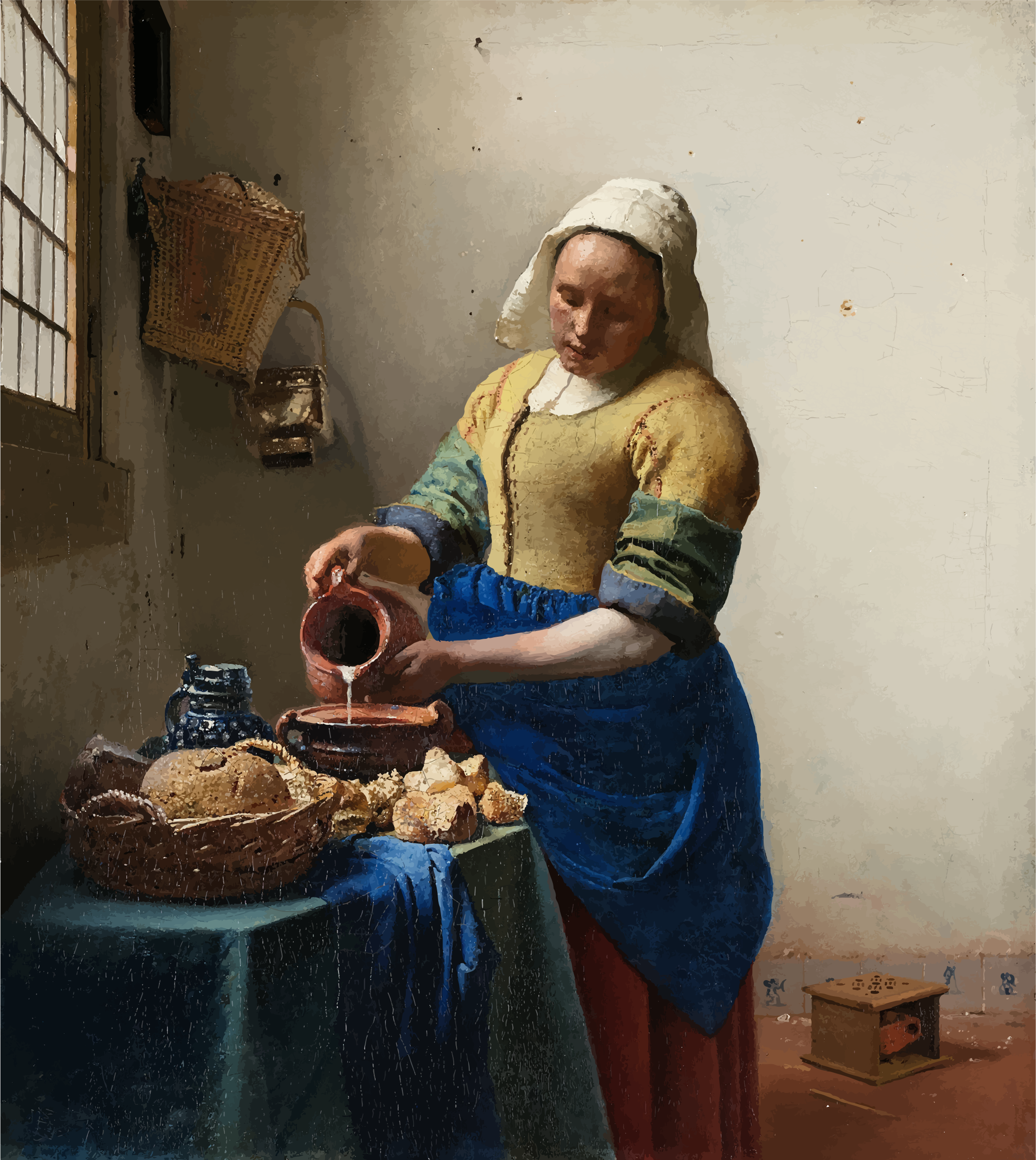 The Milkmaid By Johannes Vermeer by GDJ