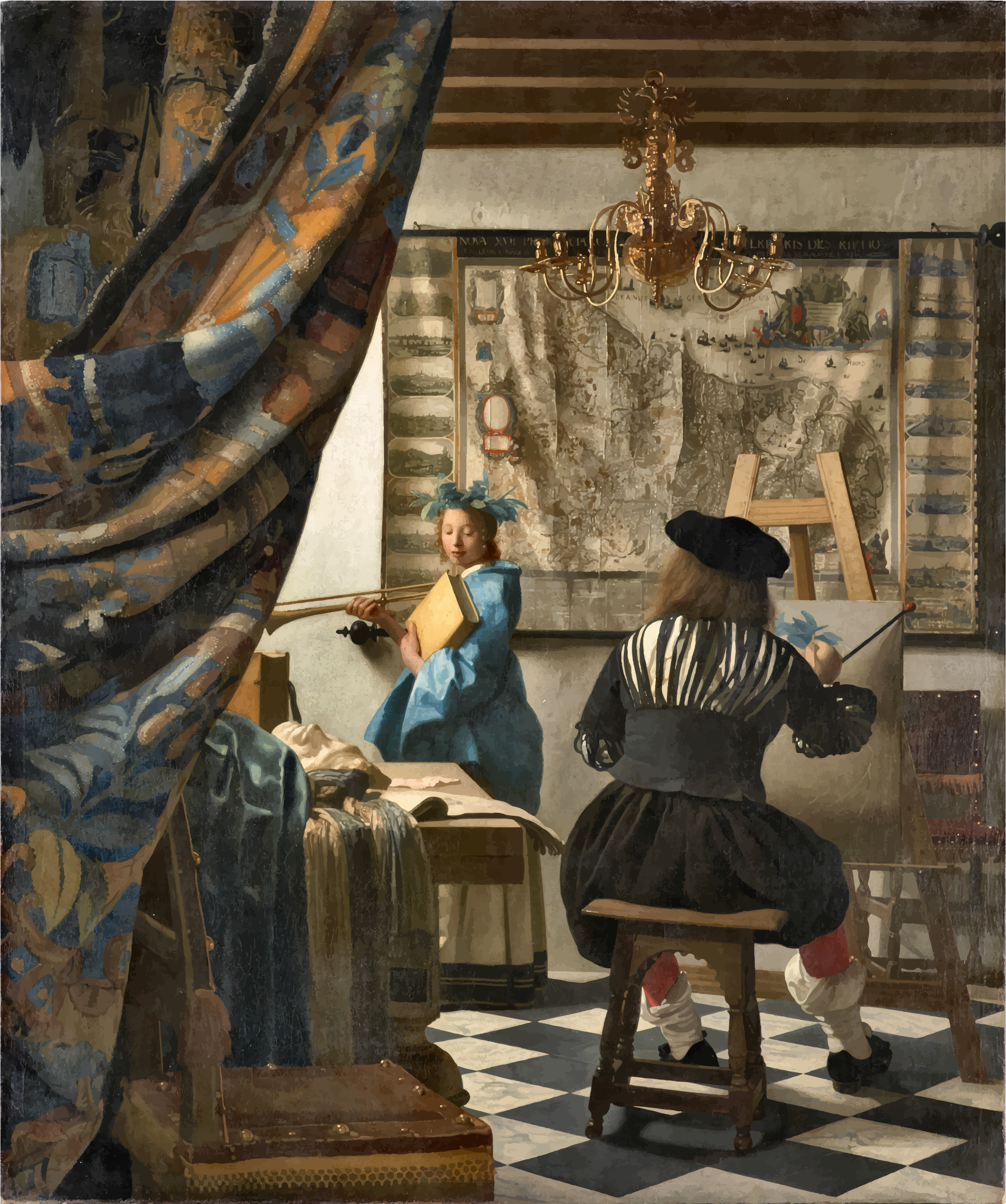 The Art Of Painting By Johannes Vermeer by GDJ