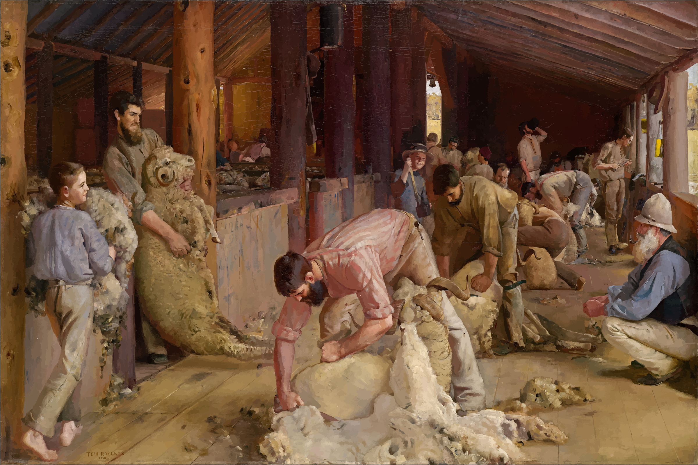 Shearing The Rams By Tom Roberts by GDJ
