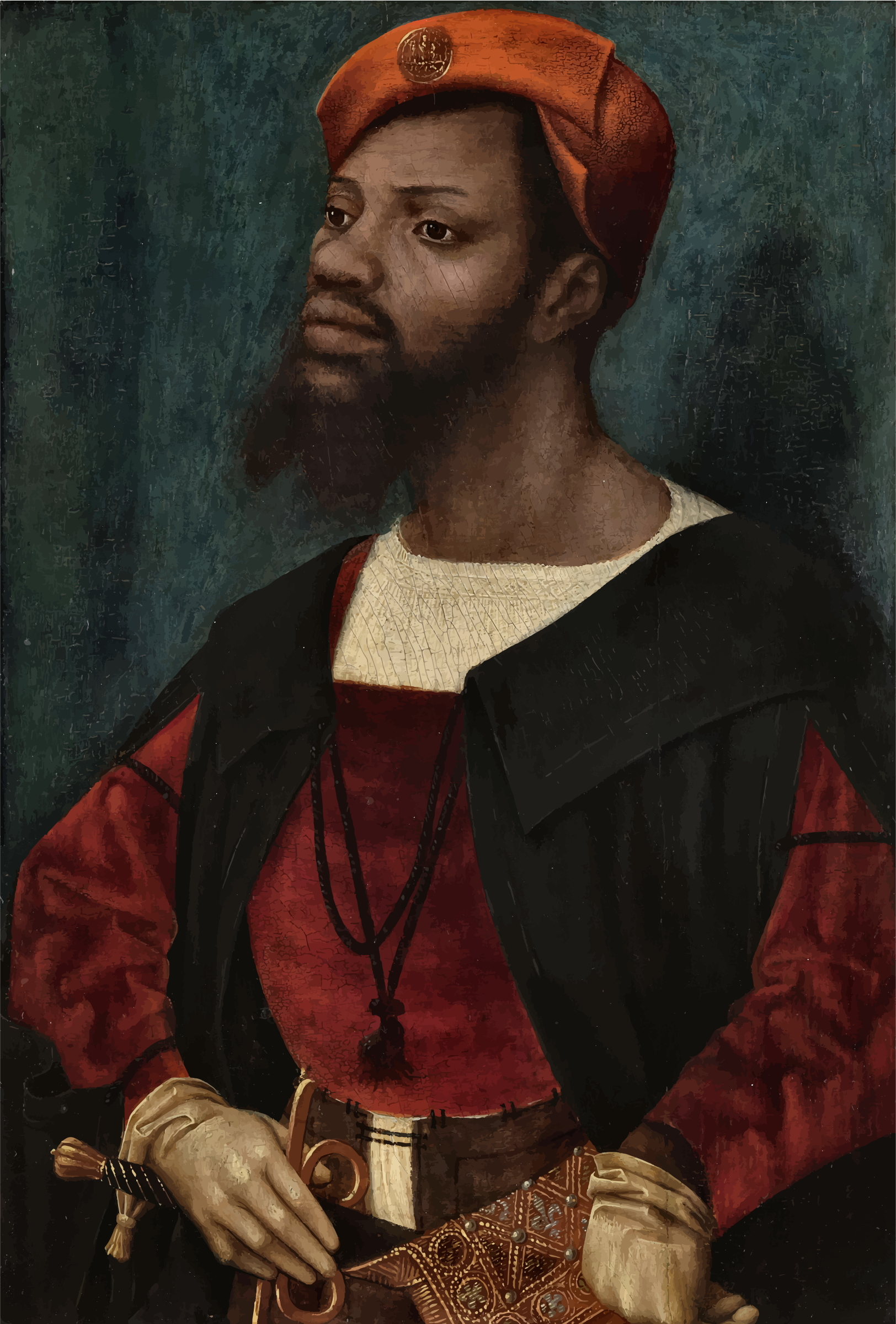 Portrait Of An African Man By Jan Mostaert by GDJ