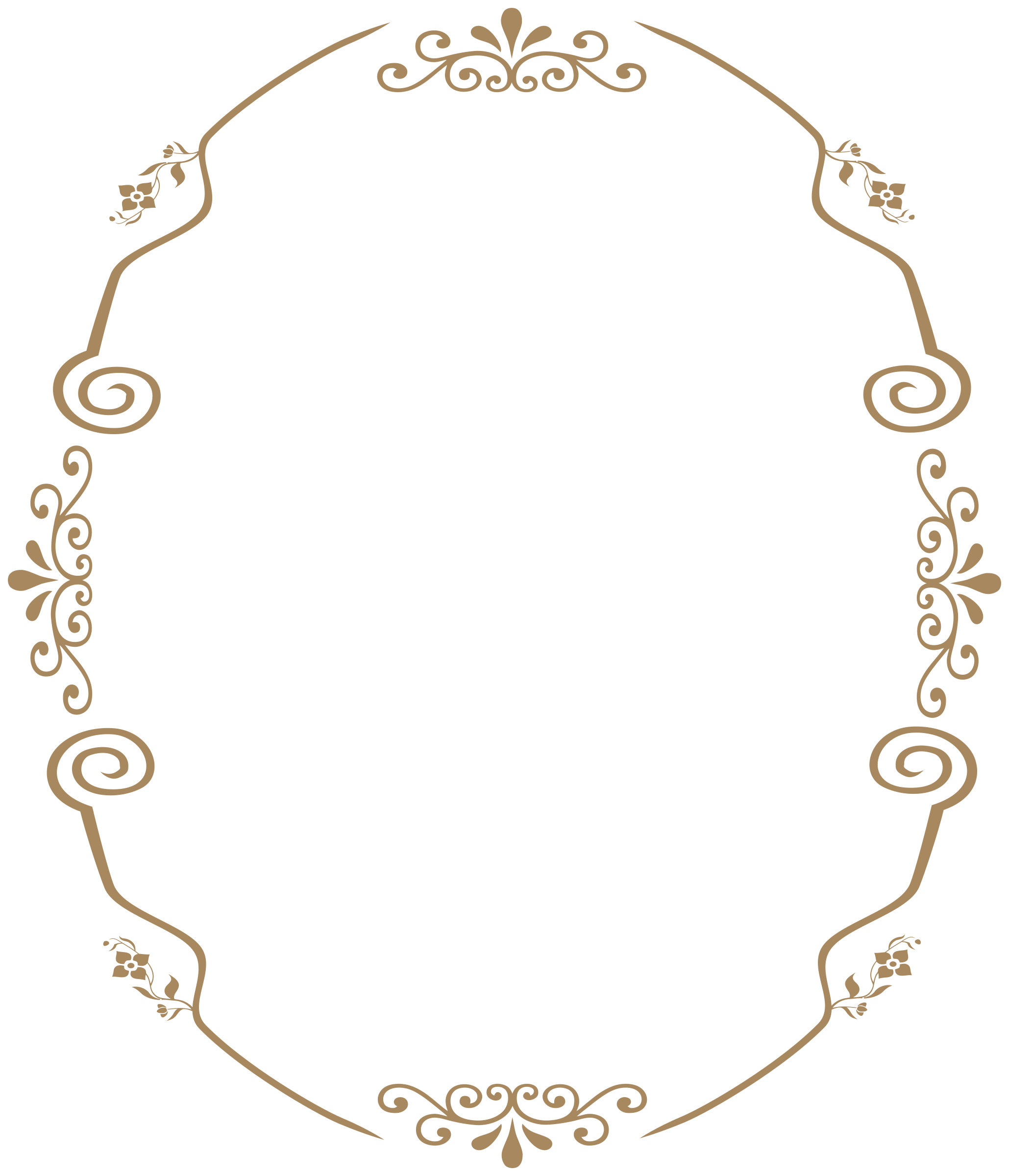 Oval Remix Of Decorative Vintage Style Frame