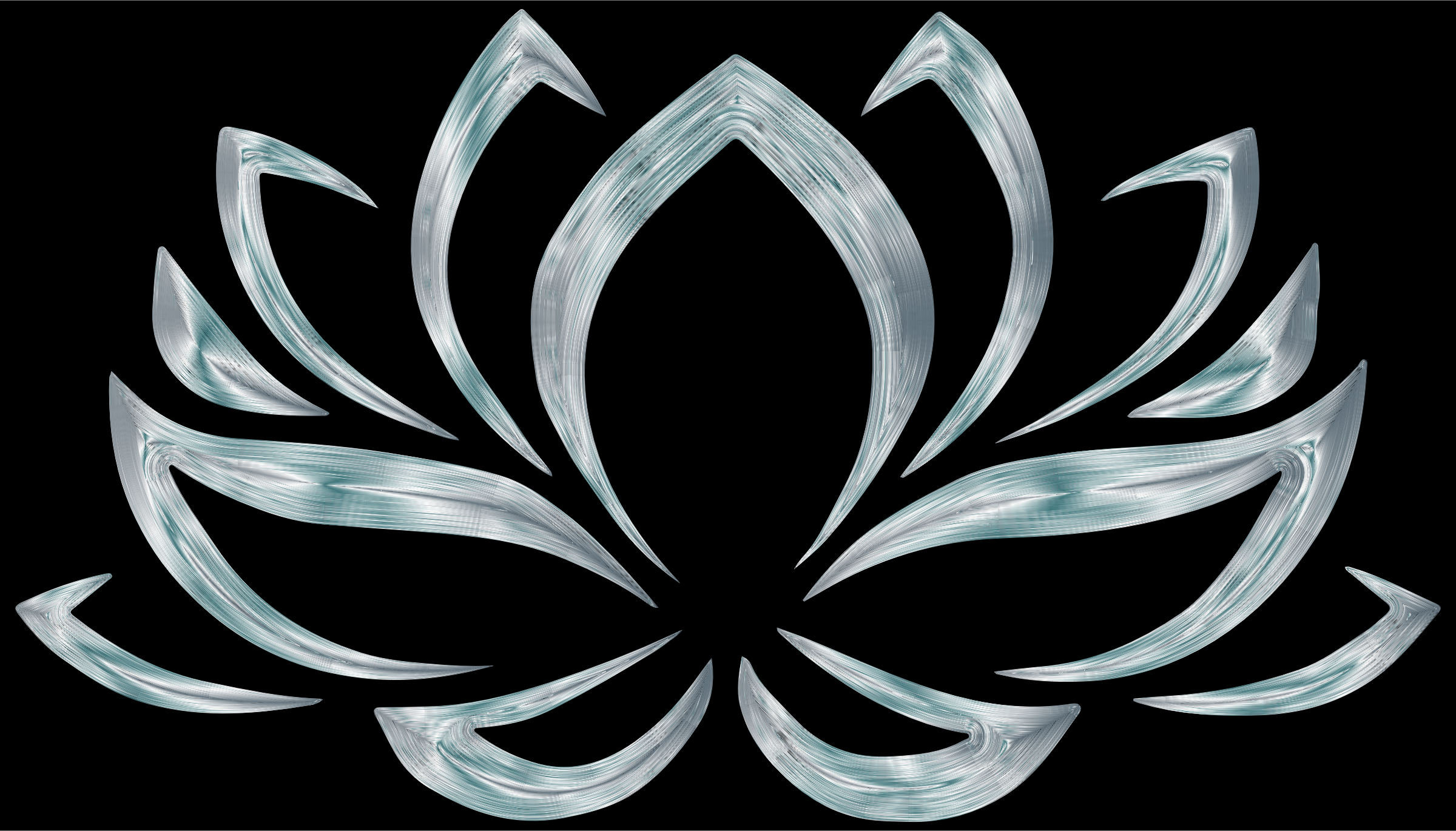 Silverized Lotus Flower by GDJ