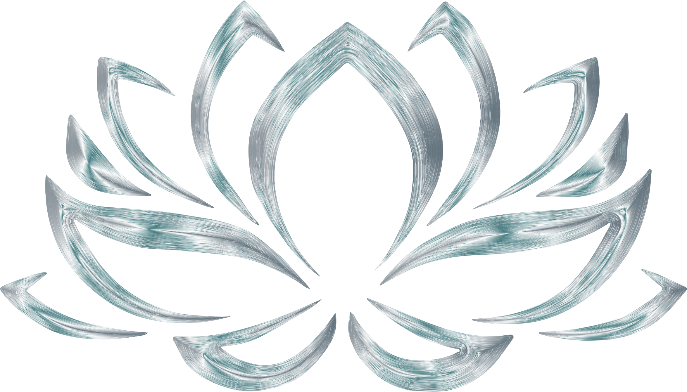 Clipart silverized lotus flower no background big image png mightylinksfo