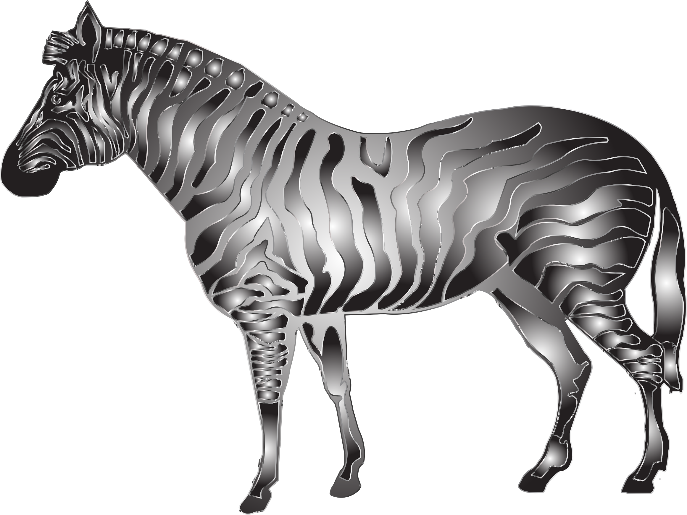 Metallic Zebra 2 by GDJ
