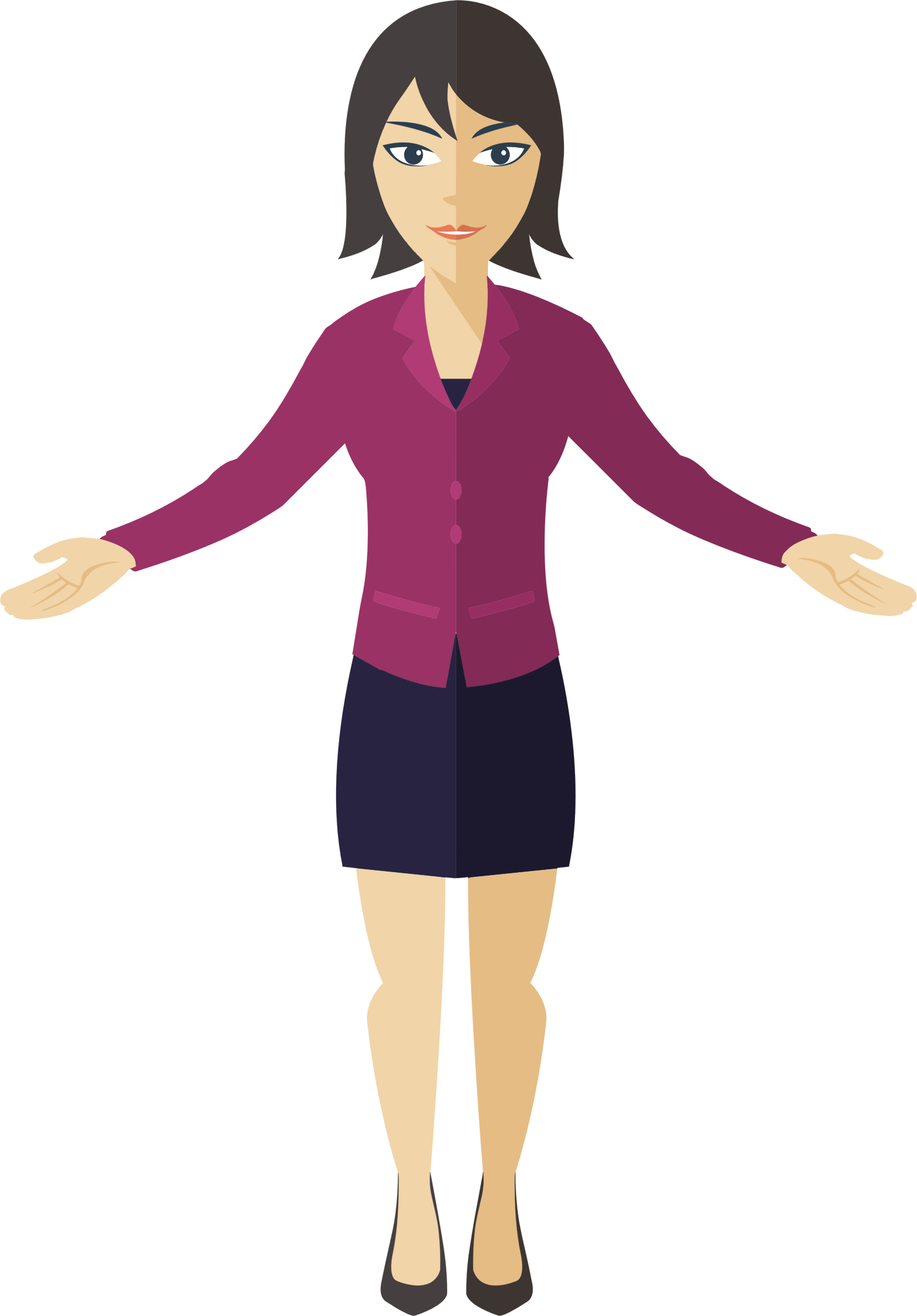 Clipart - Flat Shaded Business Woman 4 Woman