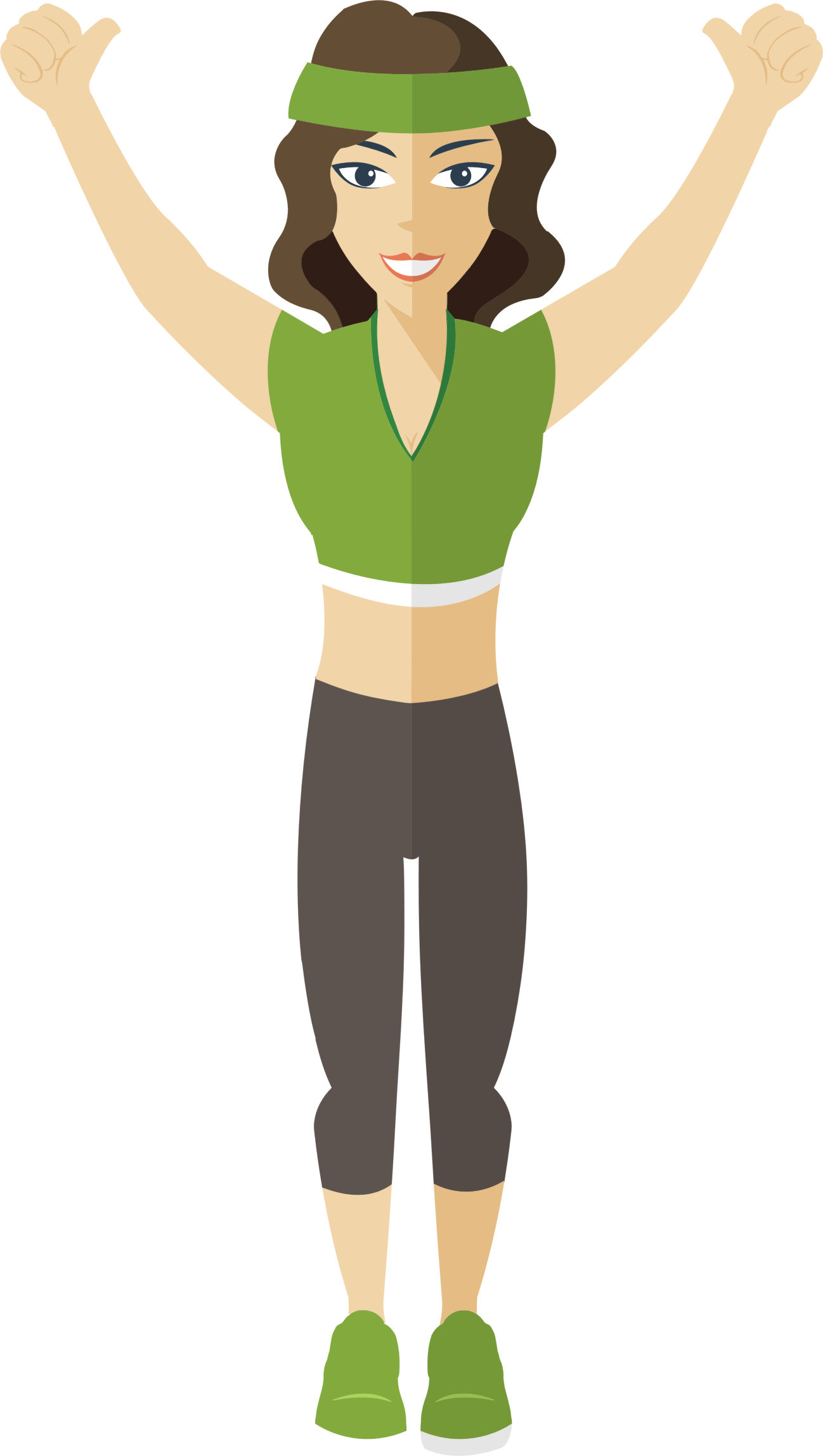 Flat Shaded Fitness Woman by GDJ