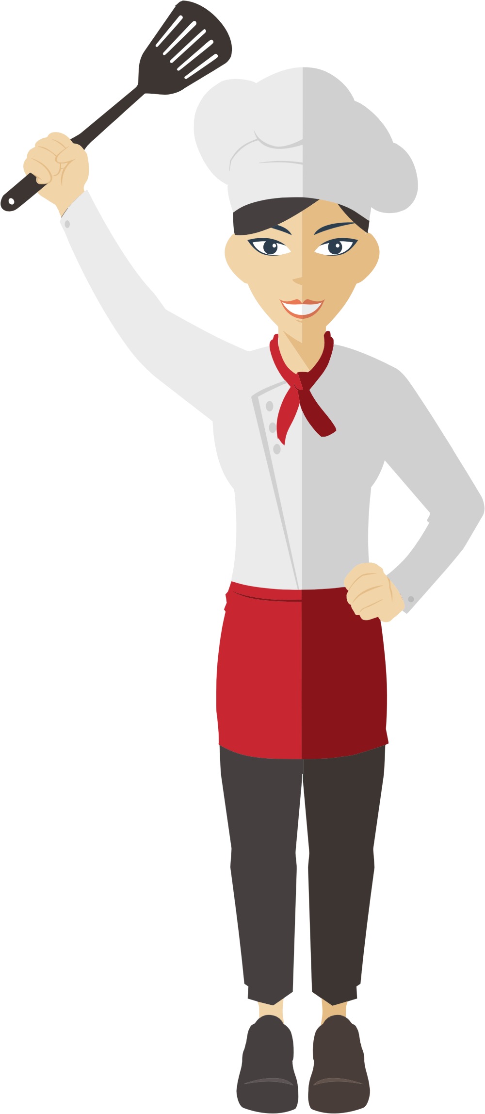Flat Shaded Female Chef by GDJ