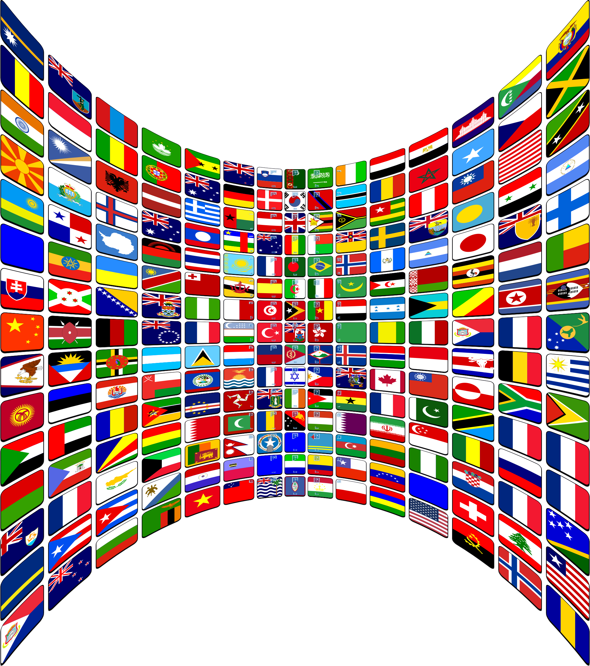 World Flag Buttons Perspective by GDJ