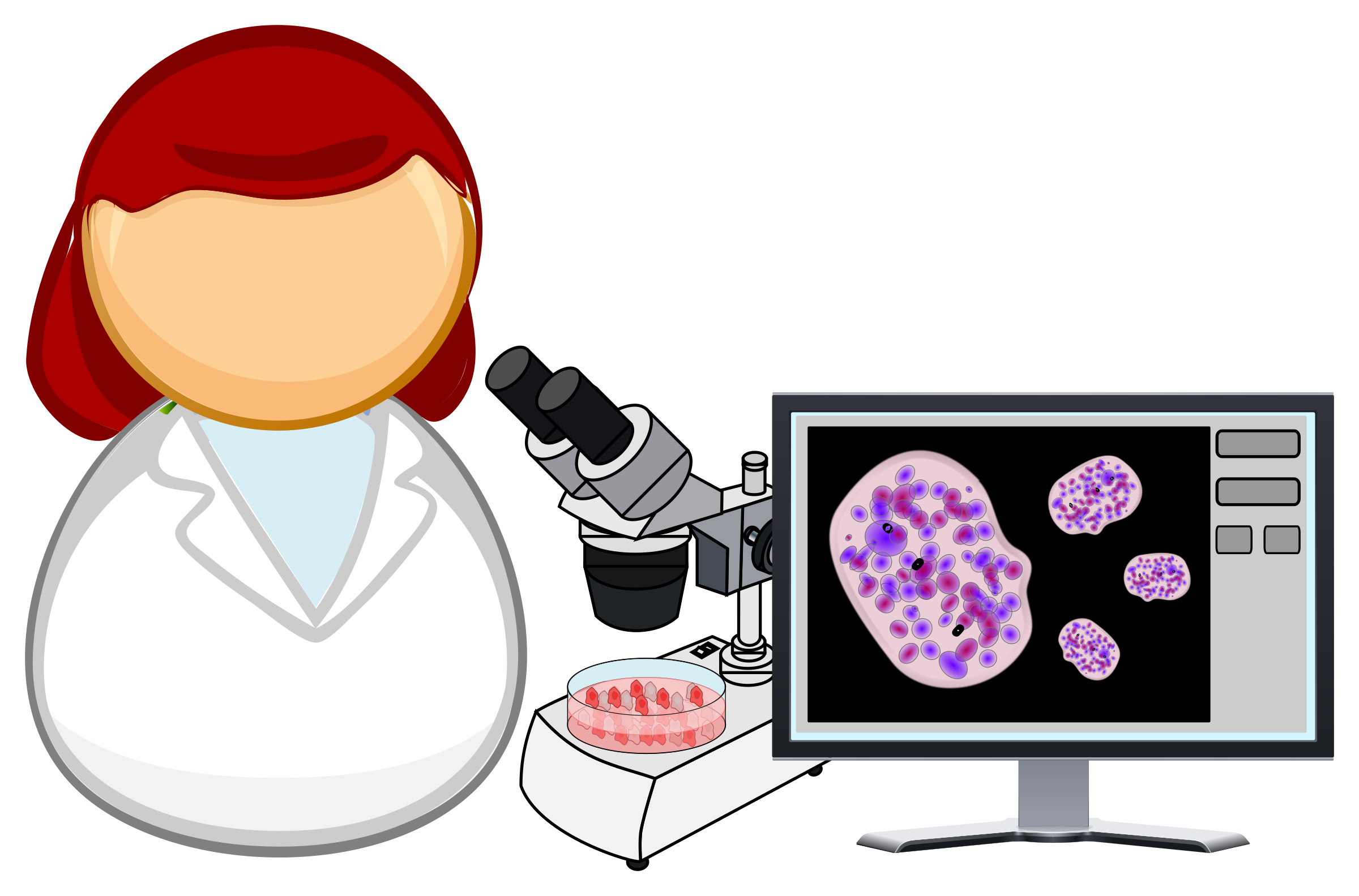 Clipart - Microbiologist