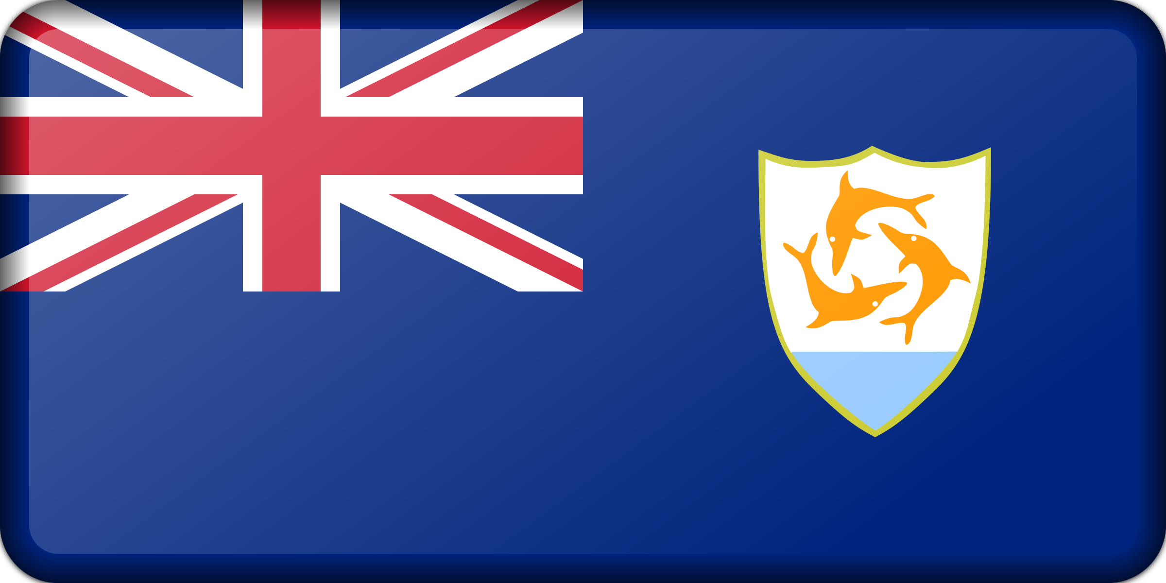 Flag of Anguilla (bevelled) by Firkin