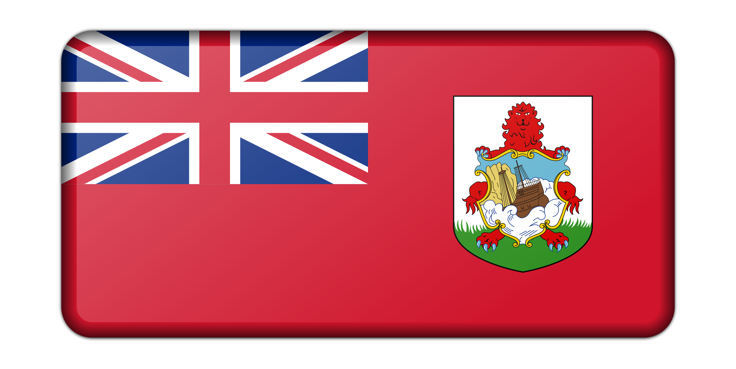 Flag of Bermuda (bevelled) by Firkin