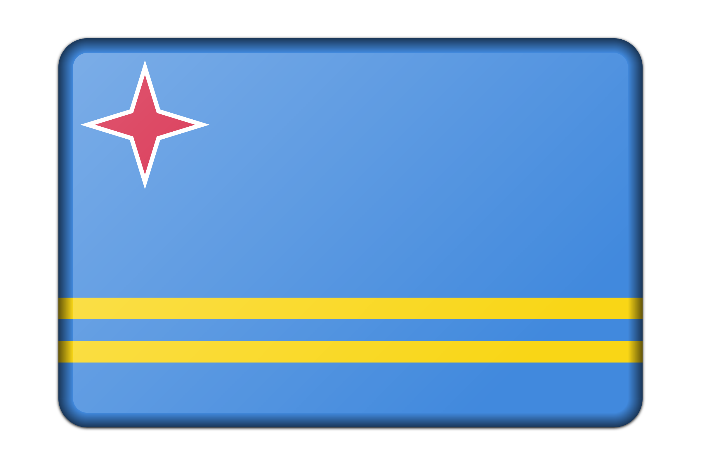 Flag of Aruba (bevelled) by Firkin
