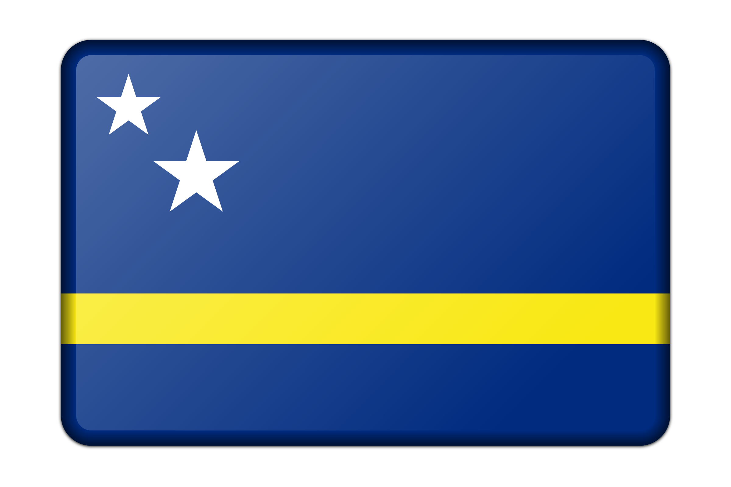 Flag of Curacao (bevelled) by Firkin