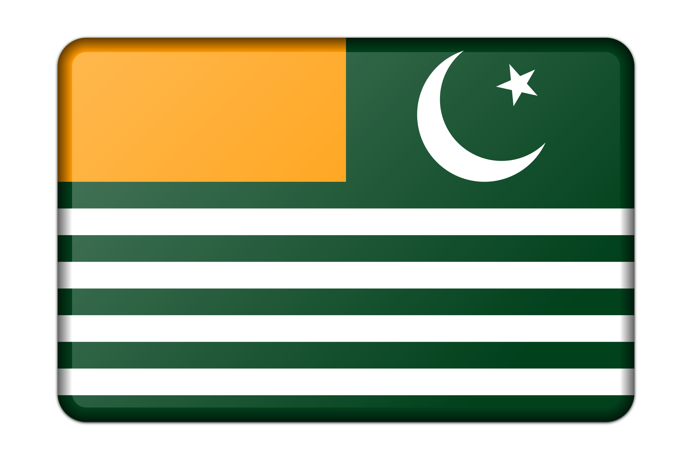 Flag of Azad Kashmir (bevelled) by Firkin
