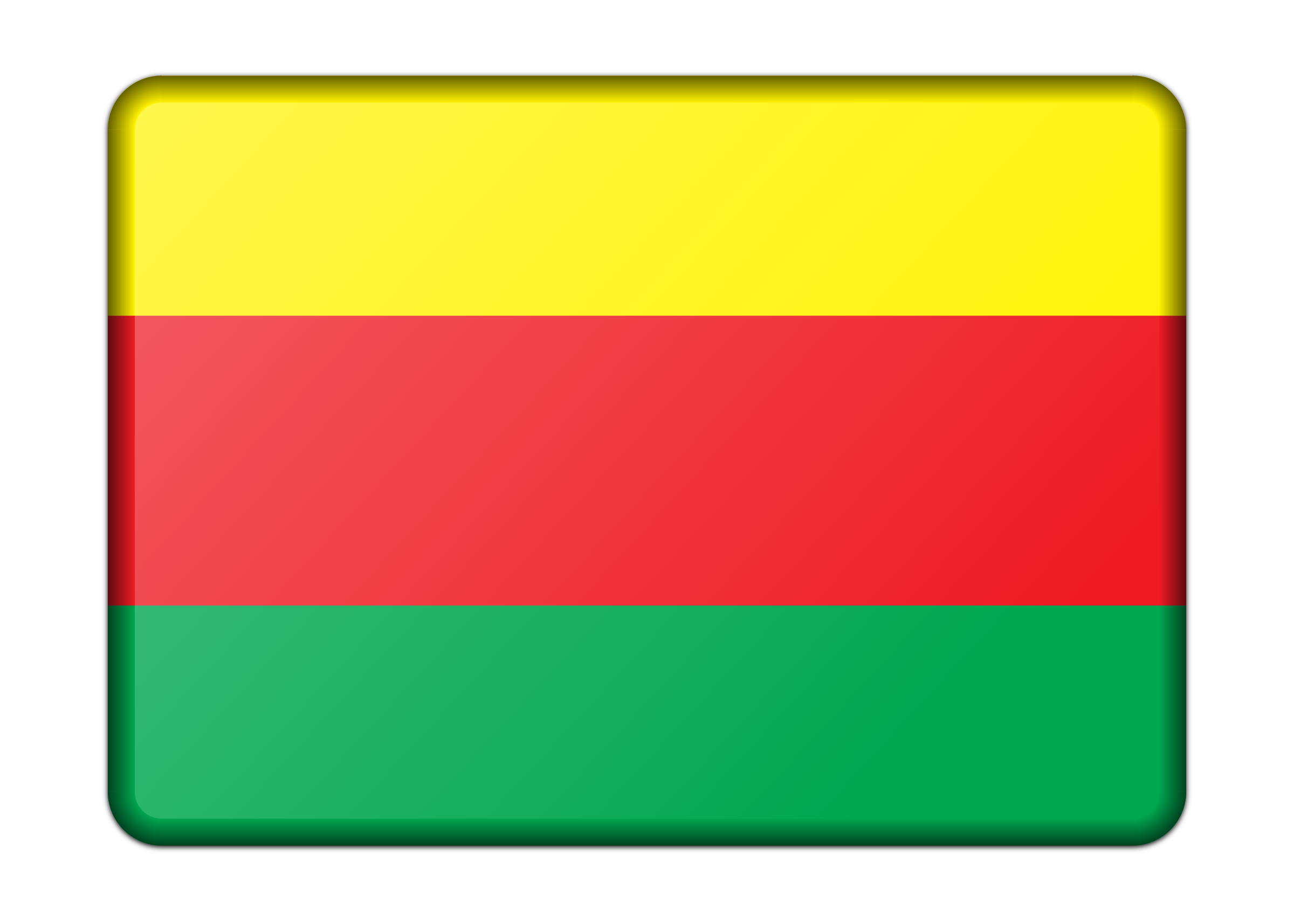 Flag of Syrian Kurdistan (bevelled) by Firkin
