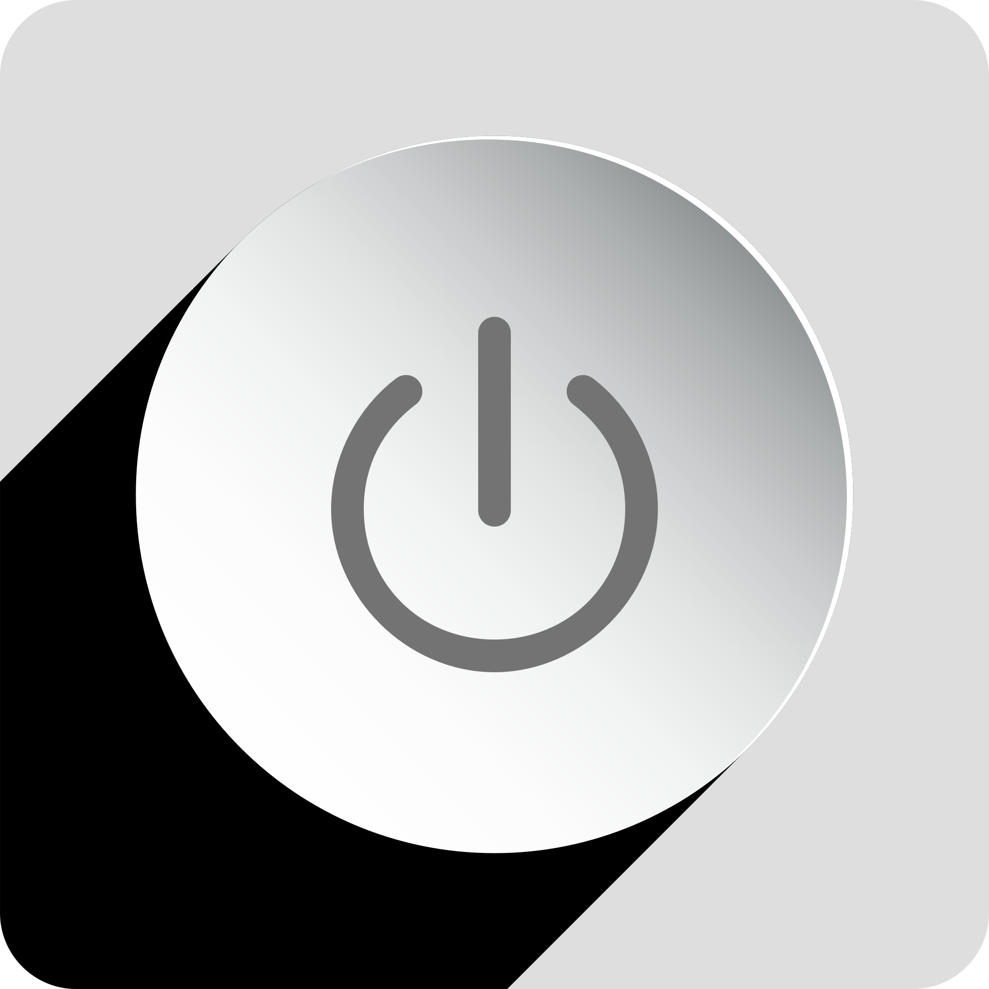 Power Button Icon Shadow by GDJ