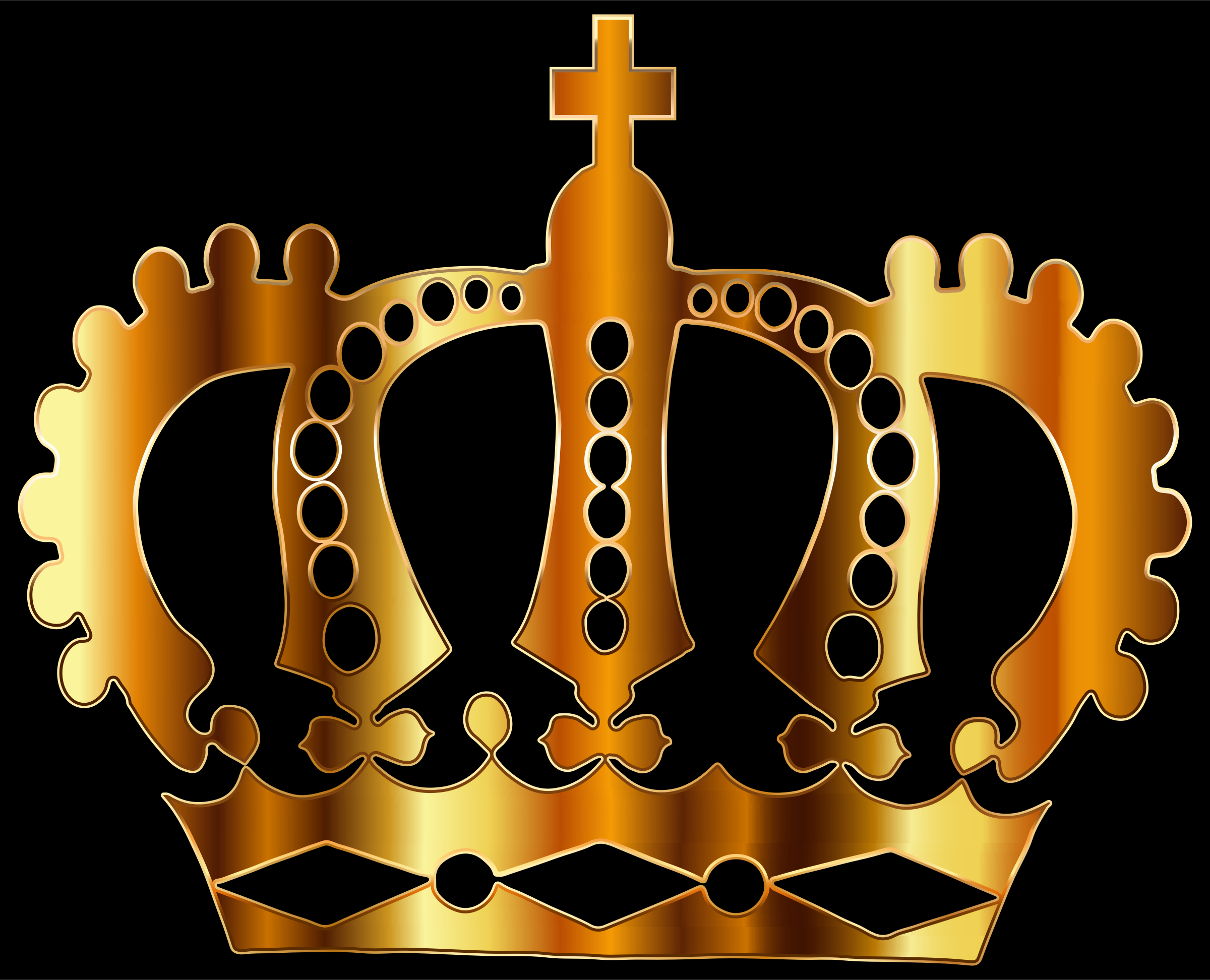 Gold Royal Crown Silhouette by GDJ