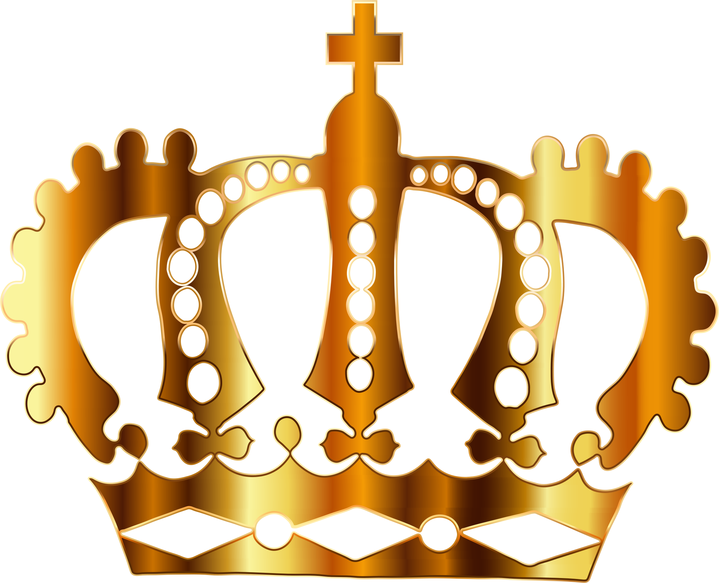 Gold Royal Crown Silhouette No Background by GDJ