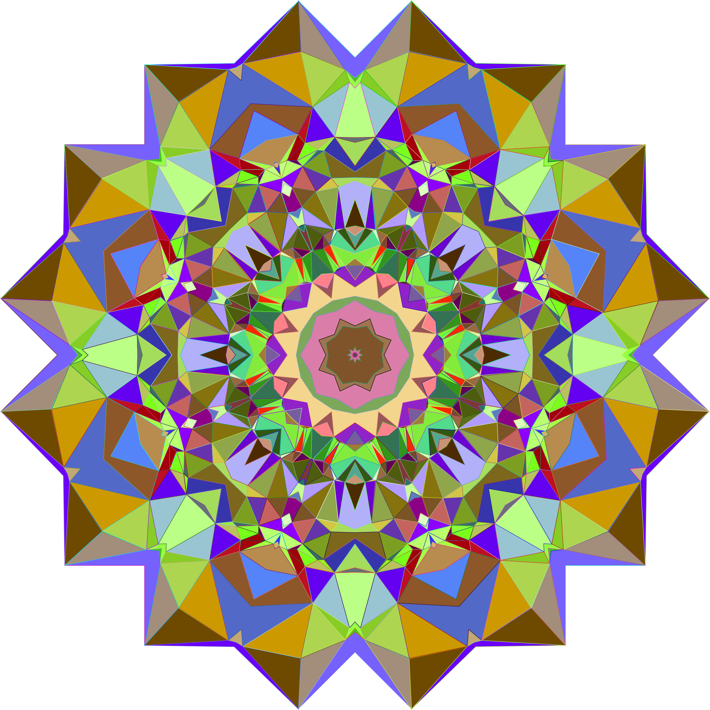 Prismatic Geometric Flower by GDJ