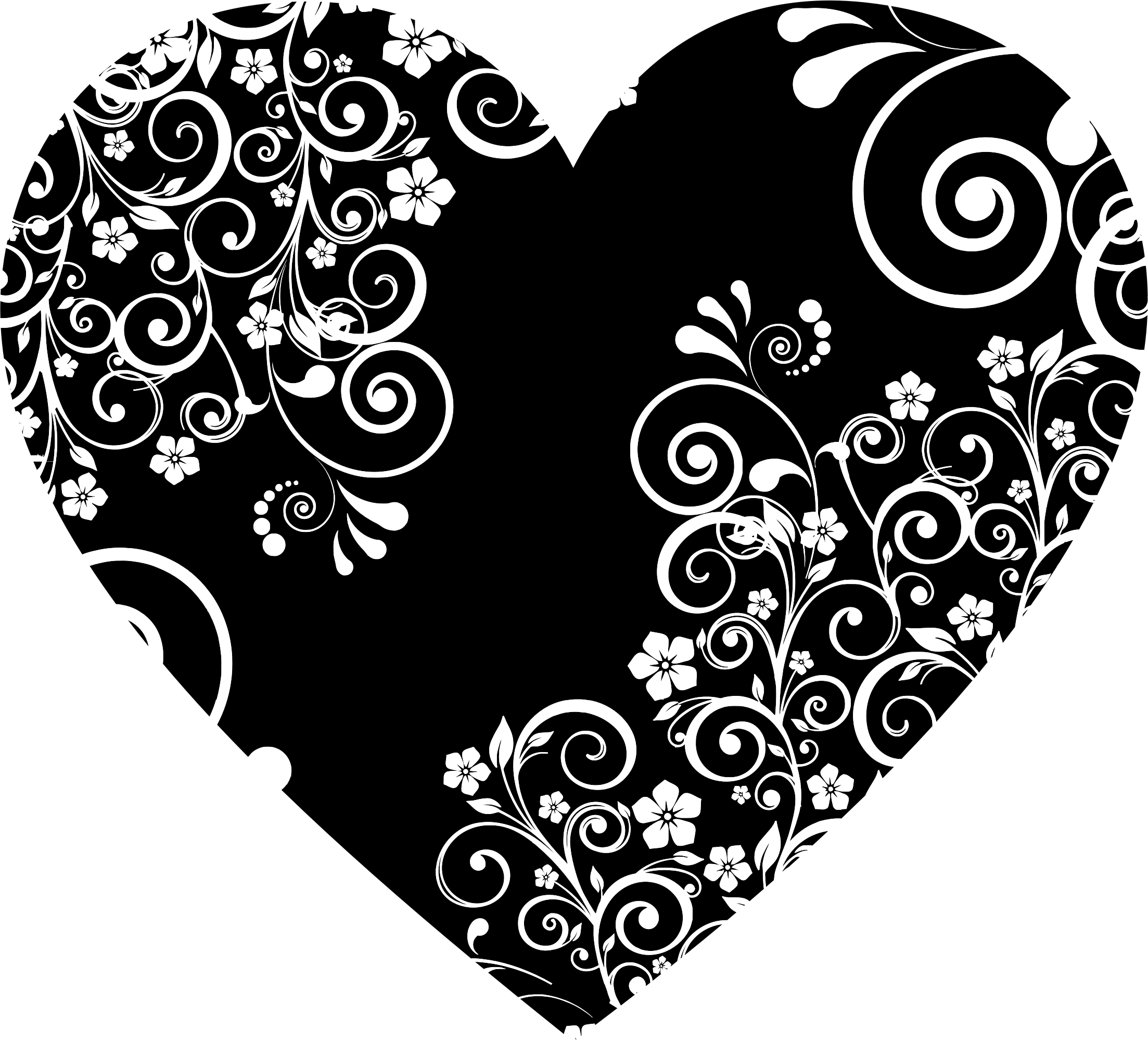 Floral Flourish Heart 3 by GDJ