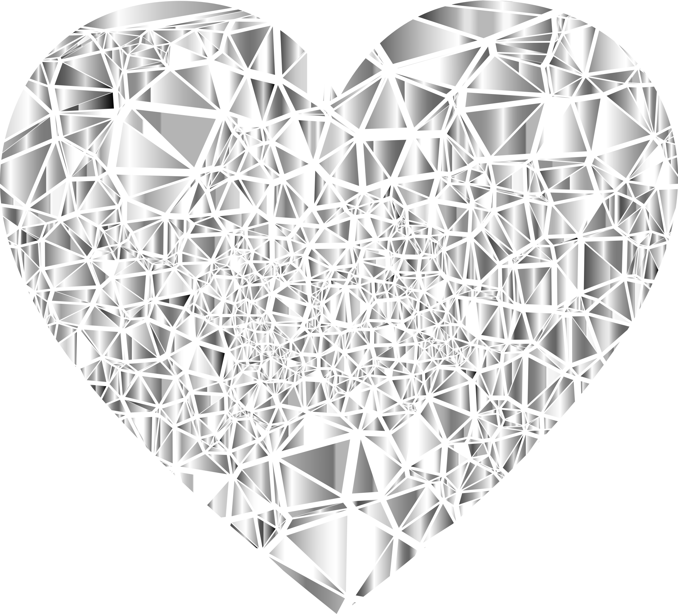 Low Poly Shattered Gemstone Heart by GDJ