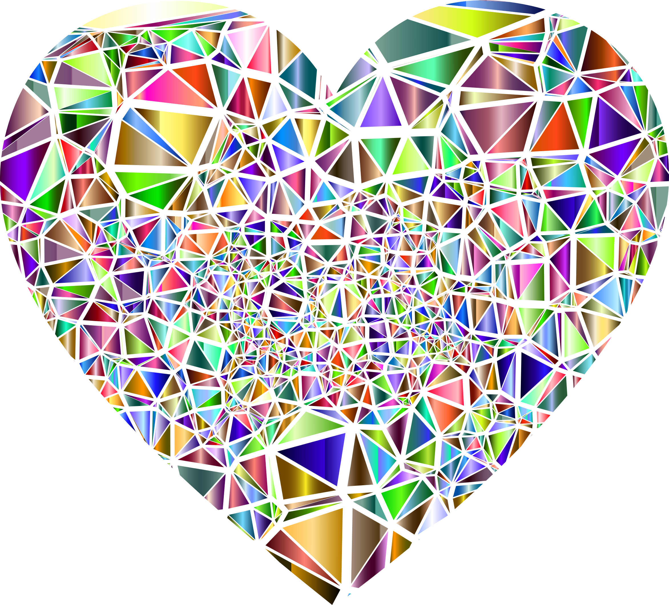 Low Poly Shattered Chromatic Heart by GDJ