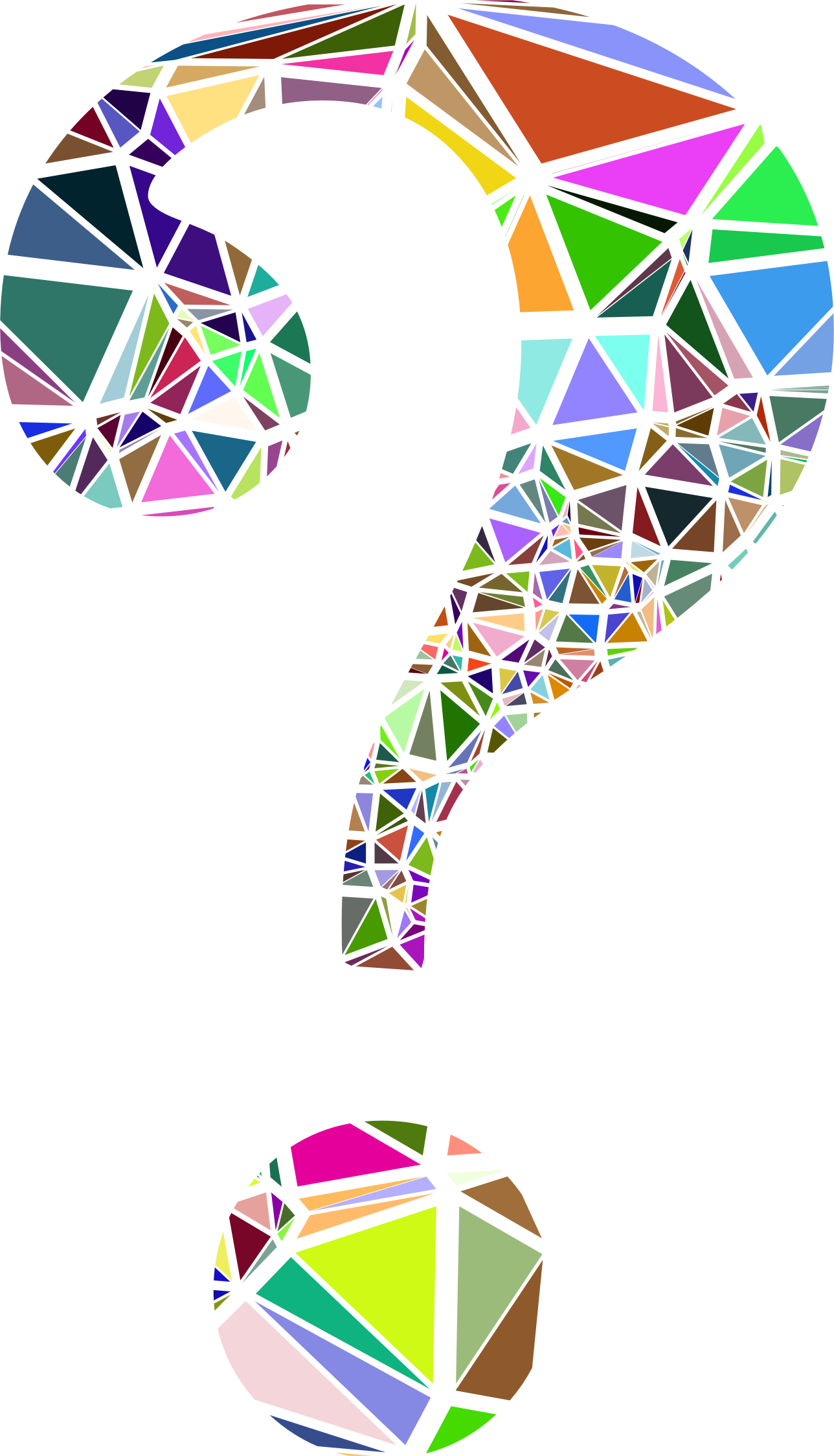 Low Poly Shattered Question Mark by GDJ