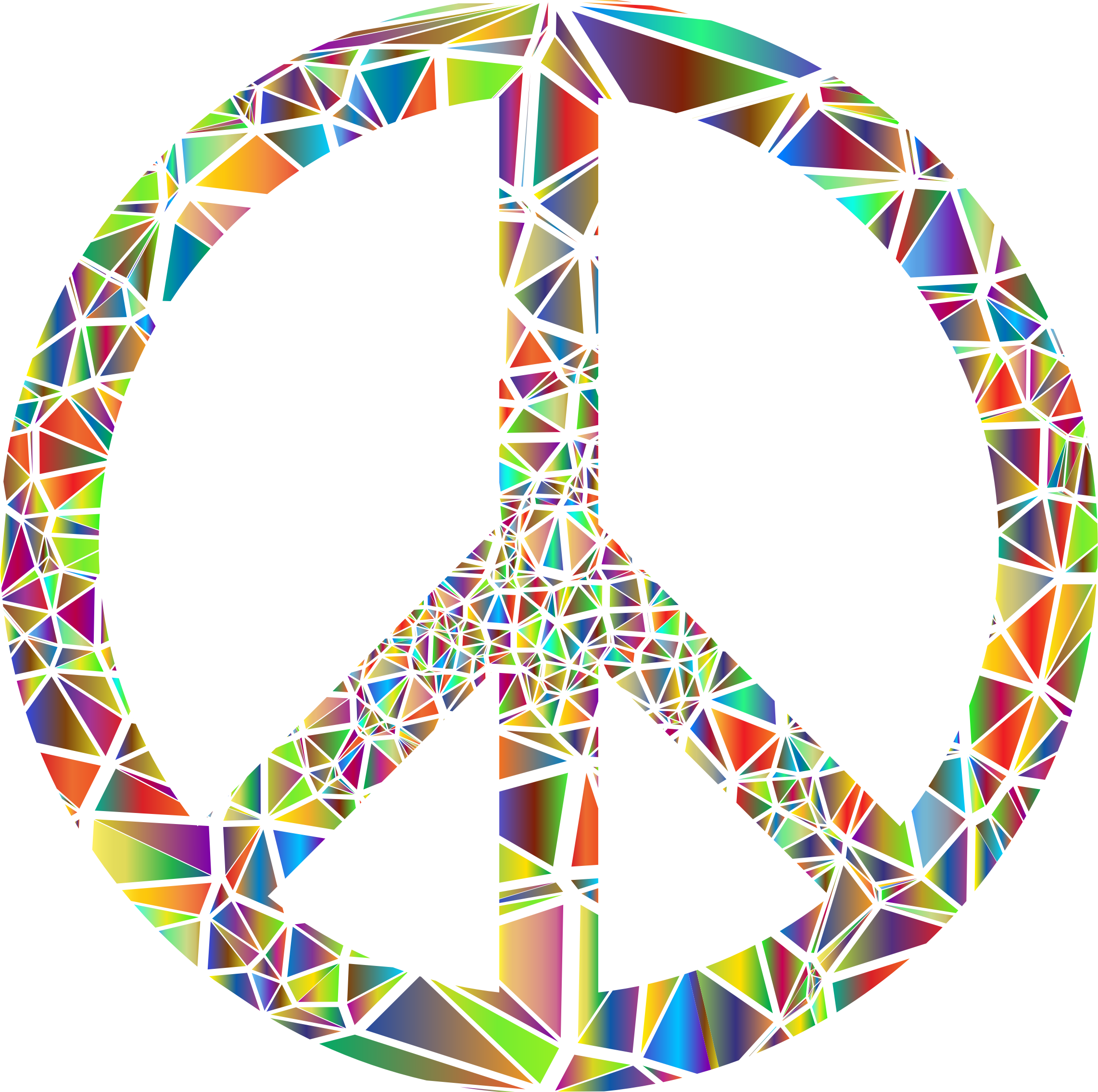 Low Poly Shattered Peace Sign No Background by GDJ