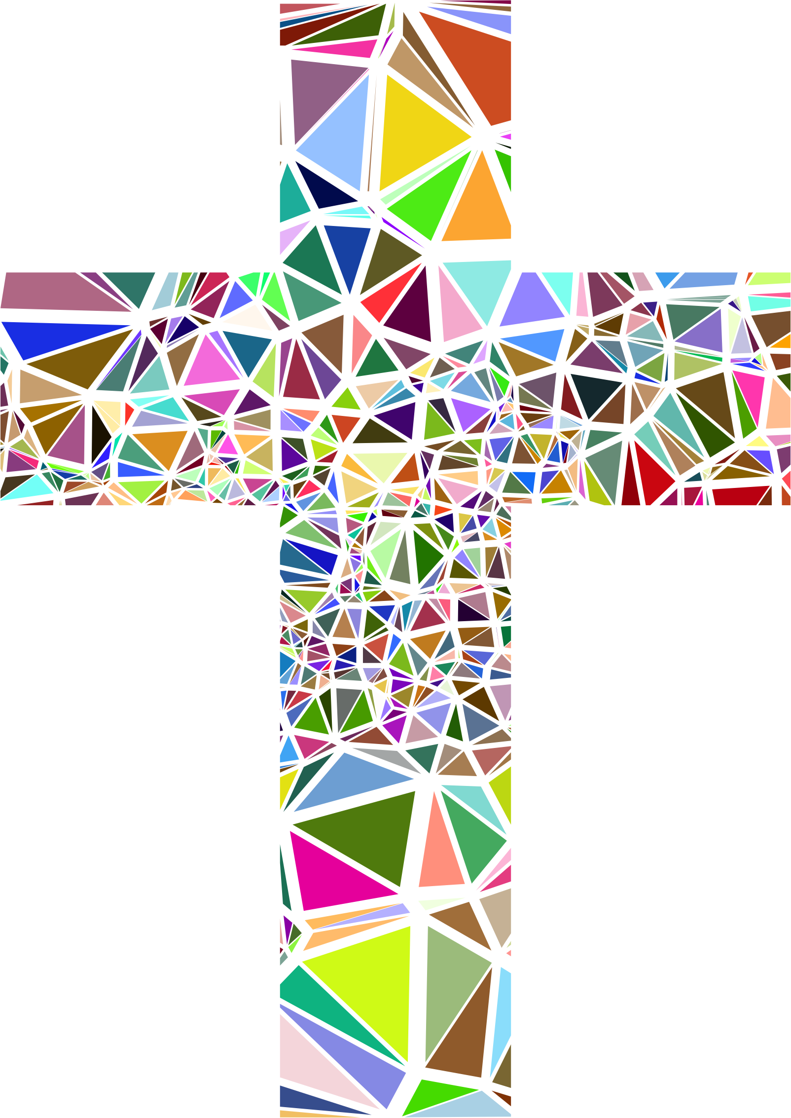 Low Poly Stained Glass Cross by GDJ