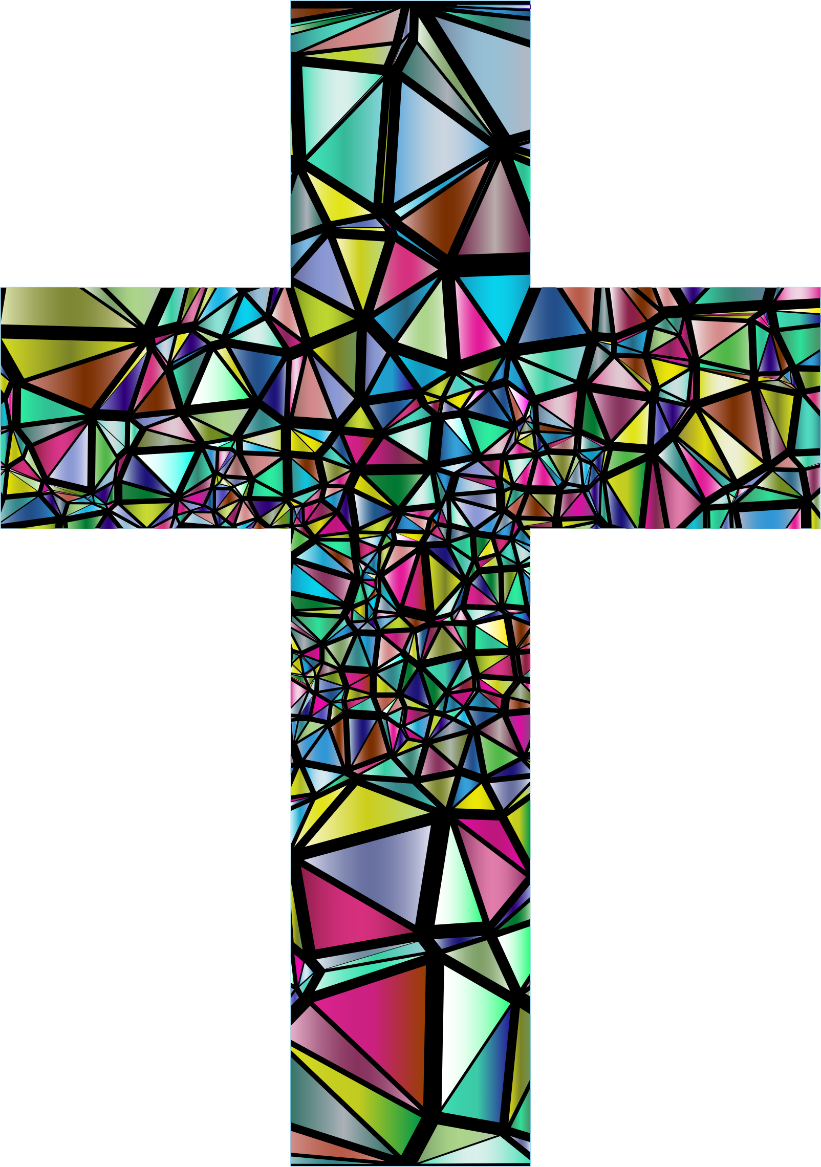 Low Poly Stained Glass Cross 3 by GDJ