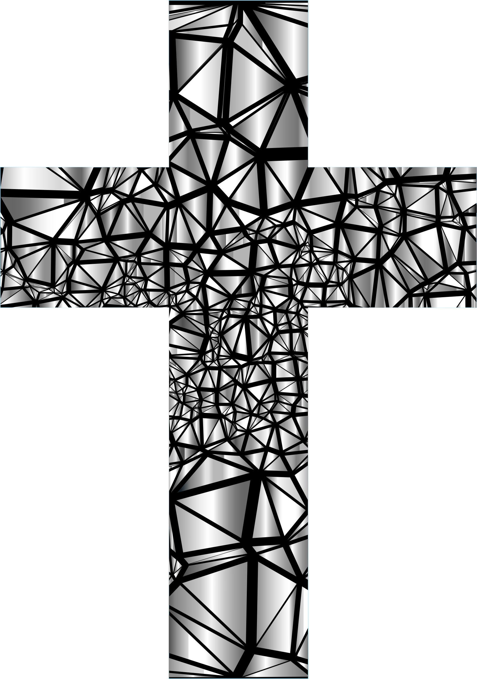 Low Poly Stained Glass Cross 4 by GDJ