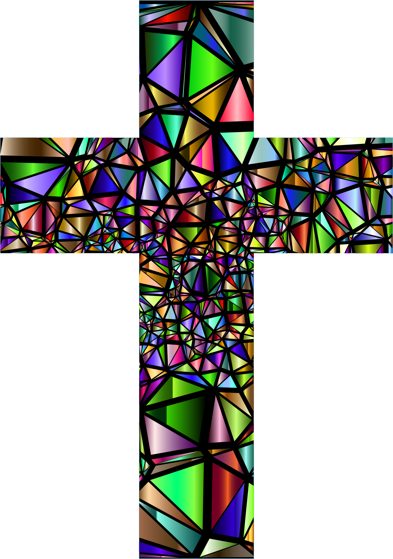 Low Poly Stained Glass Cross 5 by GDJ