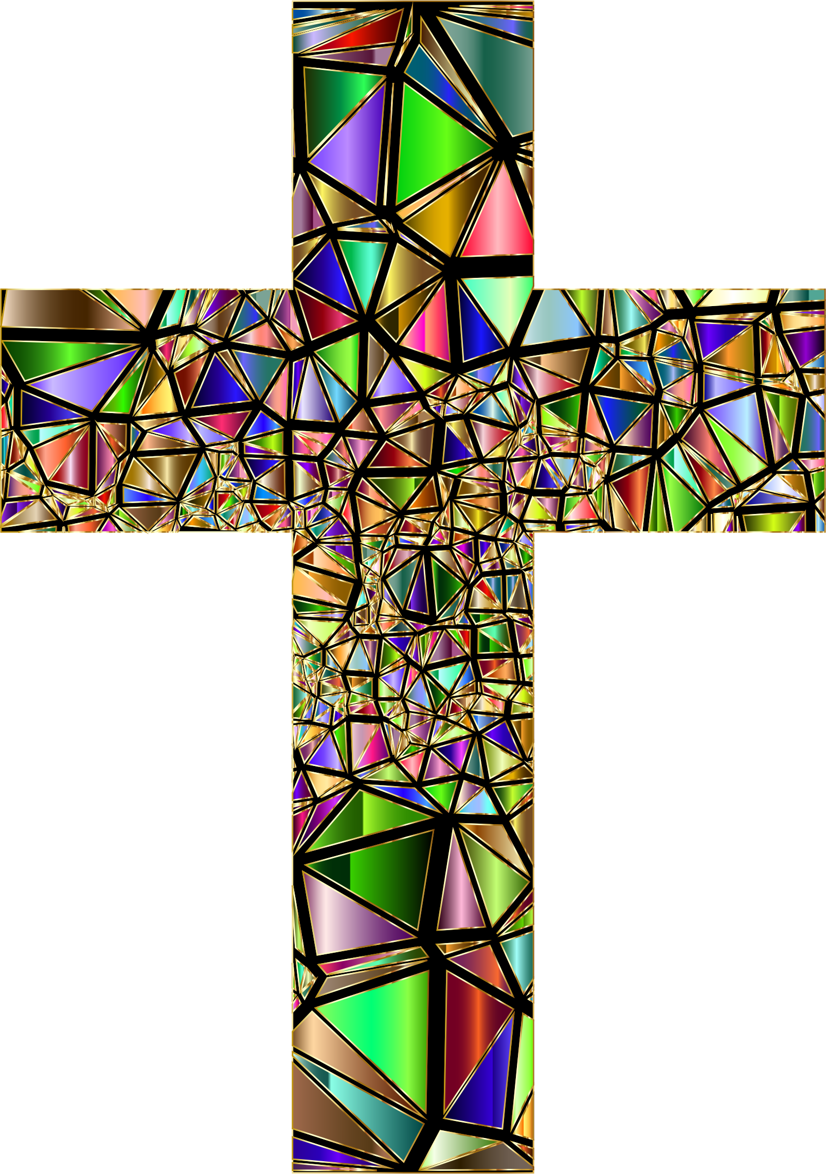 Low Poly Stained Glass Cross 5 Variation 2 by GDJ