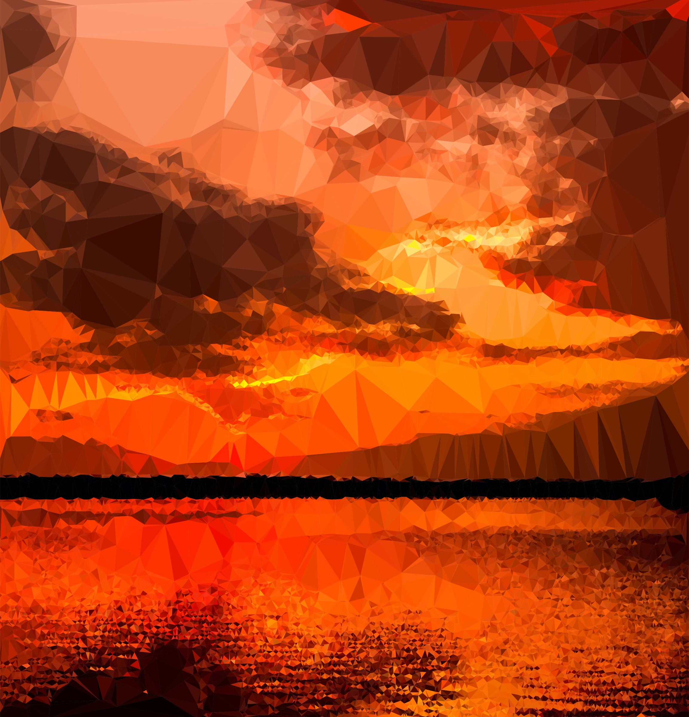 Low Poly Ocher Sunset by GDJ