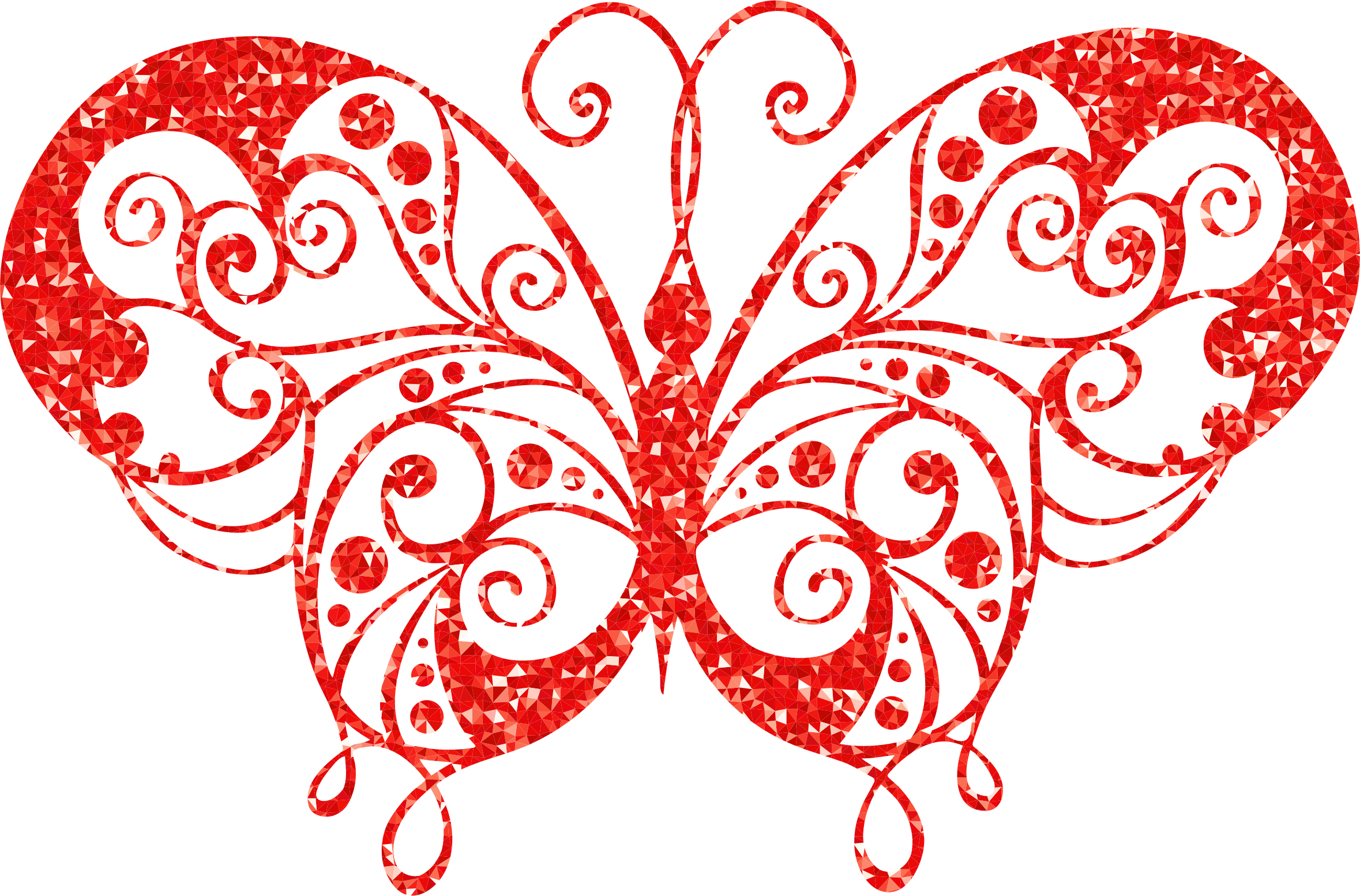 Ruby High Detail Flourish Butterfly Silhouette by GDJ