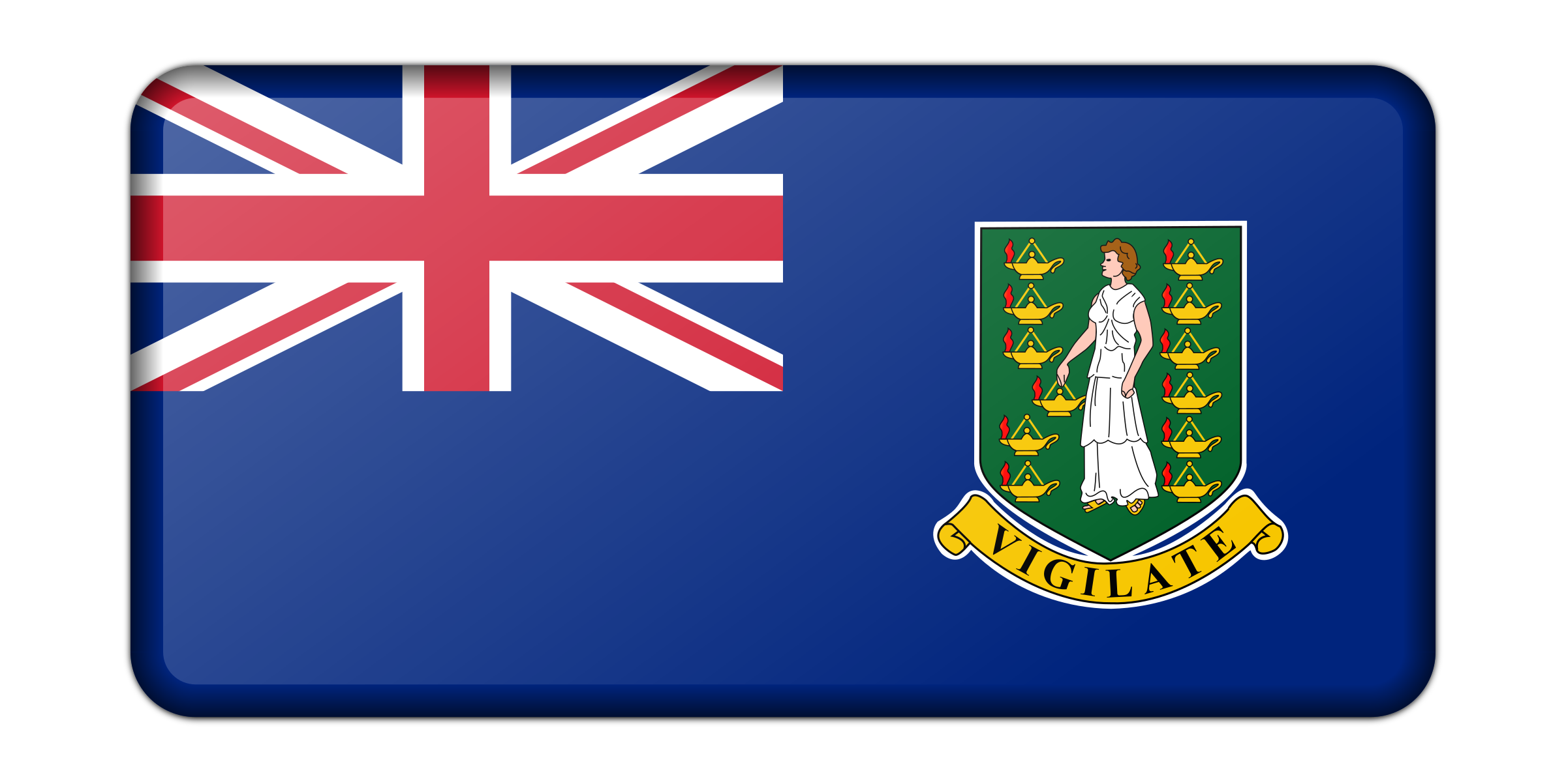 Flag of the British Virgin Islands (bevelled) by Firkin