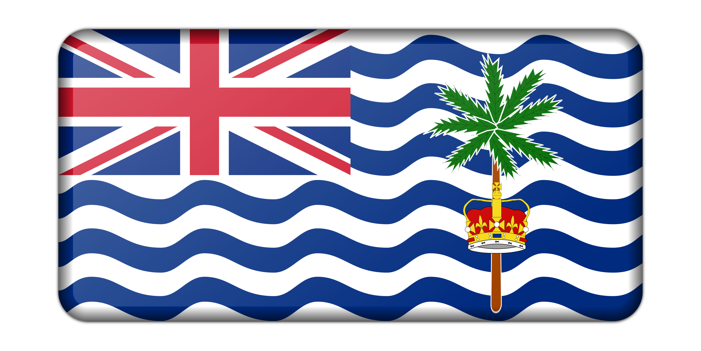 Flag of the British Indian Ocean Territory (bevelled) by Firkin