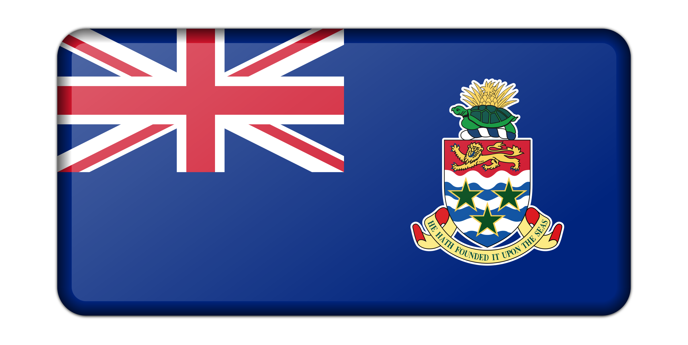 Flag of the Cayman Islands (bevelled) by Firkin