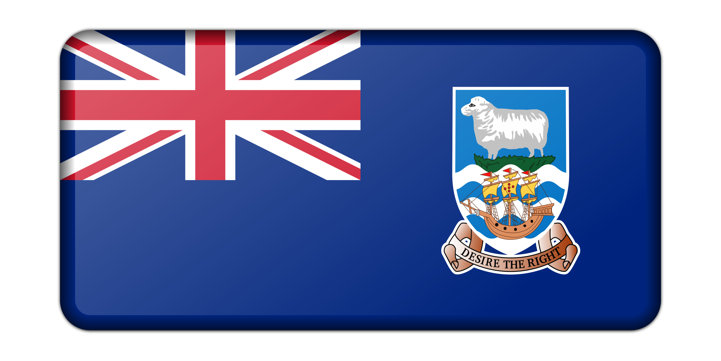 Flag of the Falkland Islands (bevelled) by Firkin