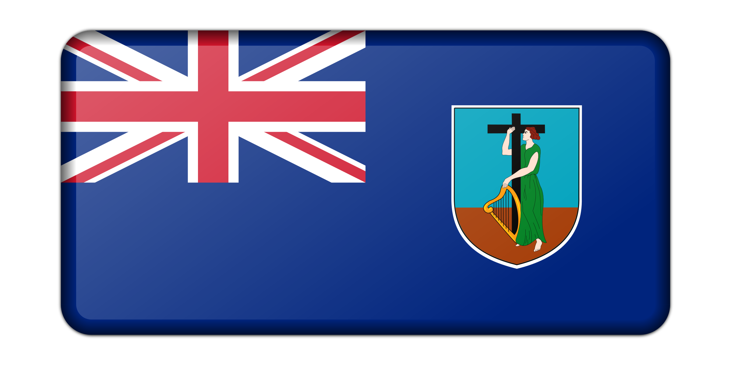 Flag of the Monserrat (bevelled) by Firkin