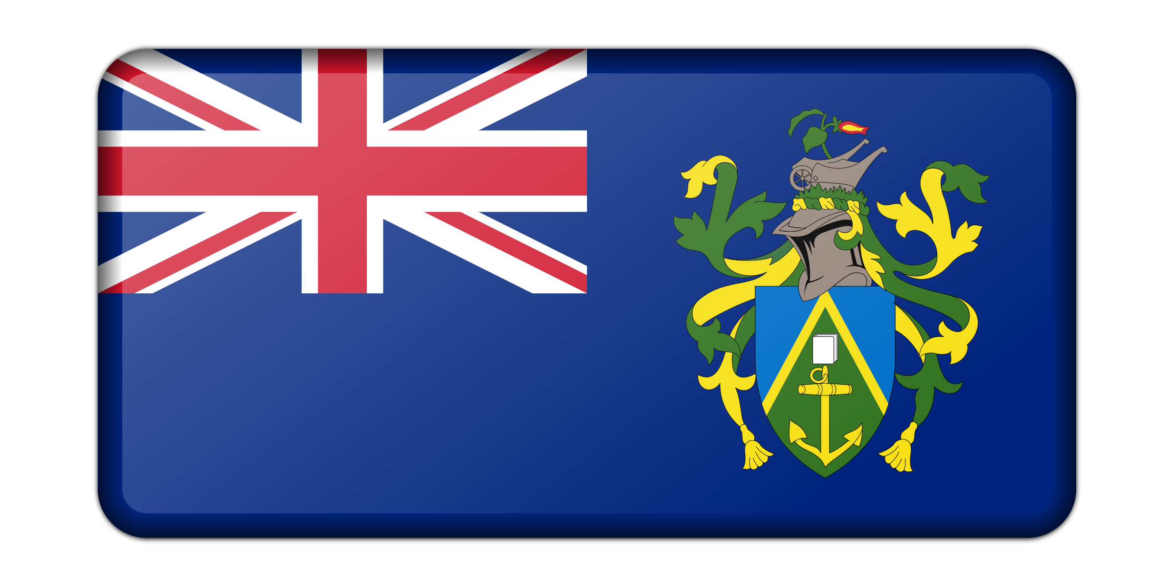 Flag of the Pitcairn Islands (bevelled) by Firkin
