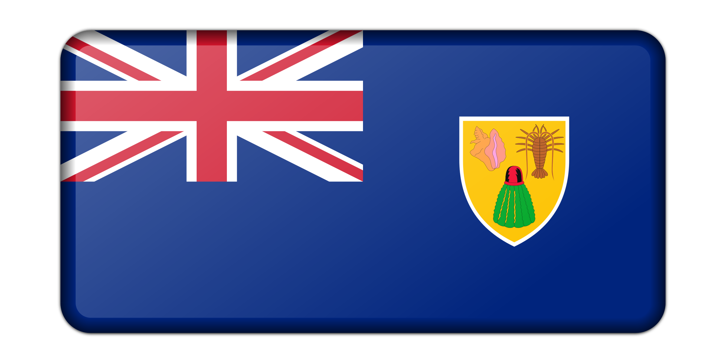 Flag of the Turks and Caicos Islands (bevelled) by Firkin