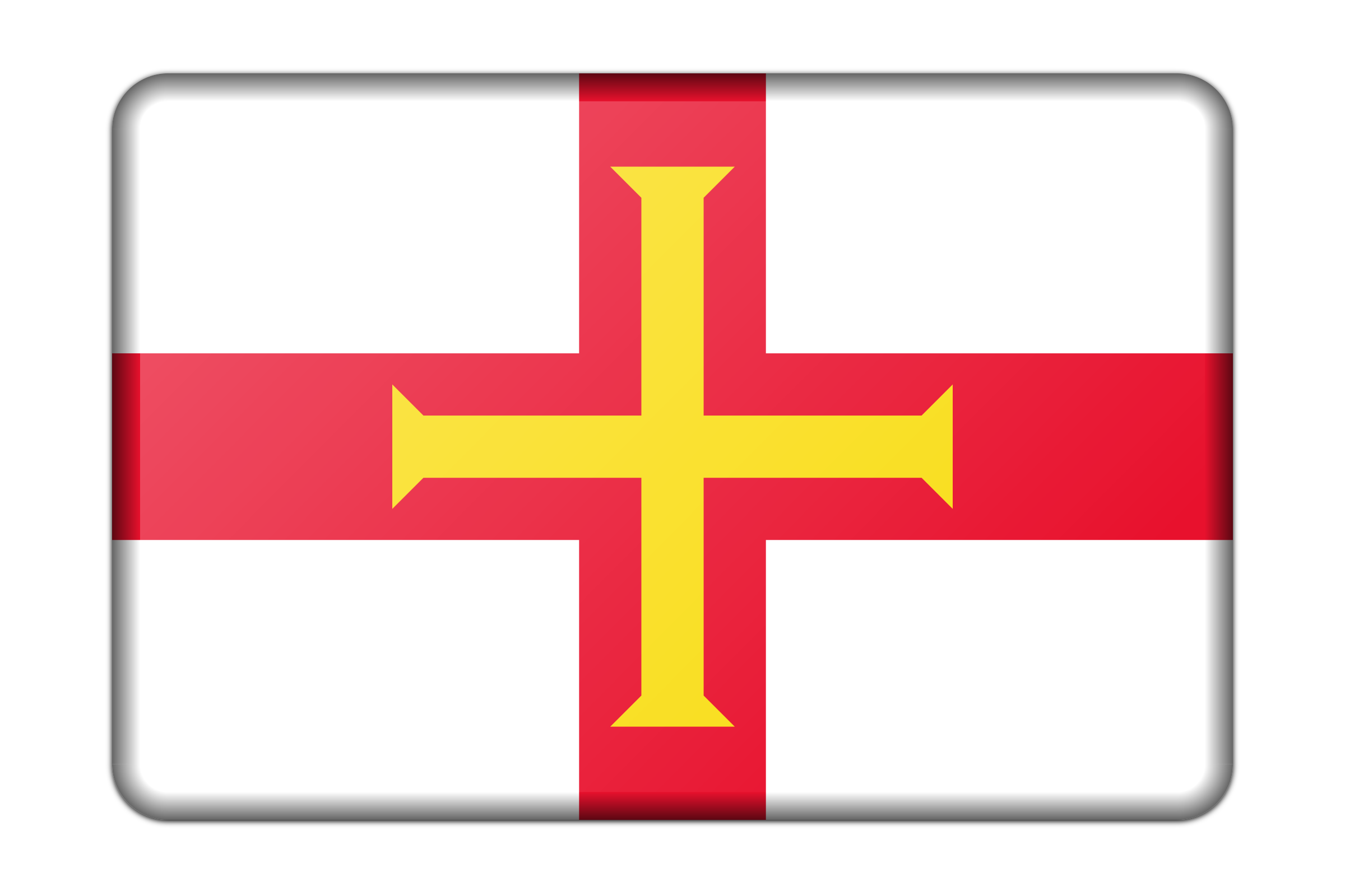 Flag of Guernsey (bevelled) by Firkin