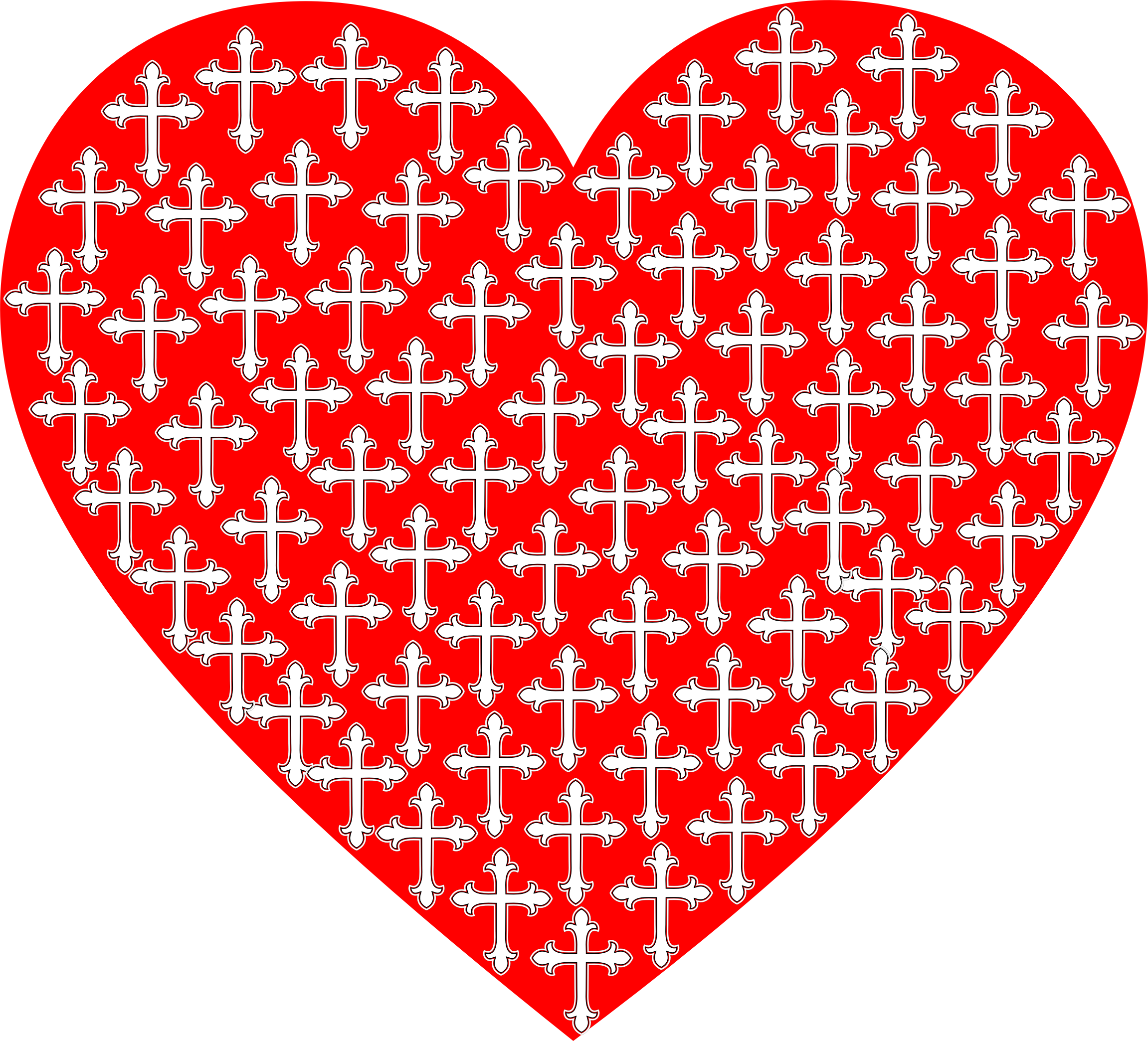 Love Heart Crosses by GDJ