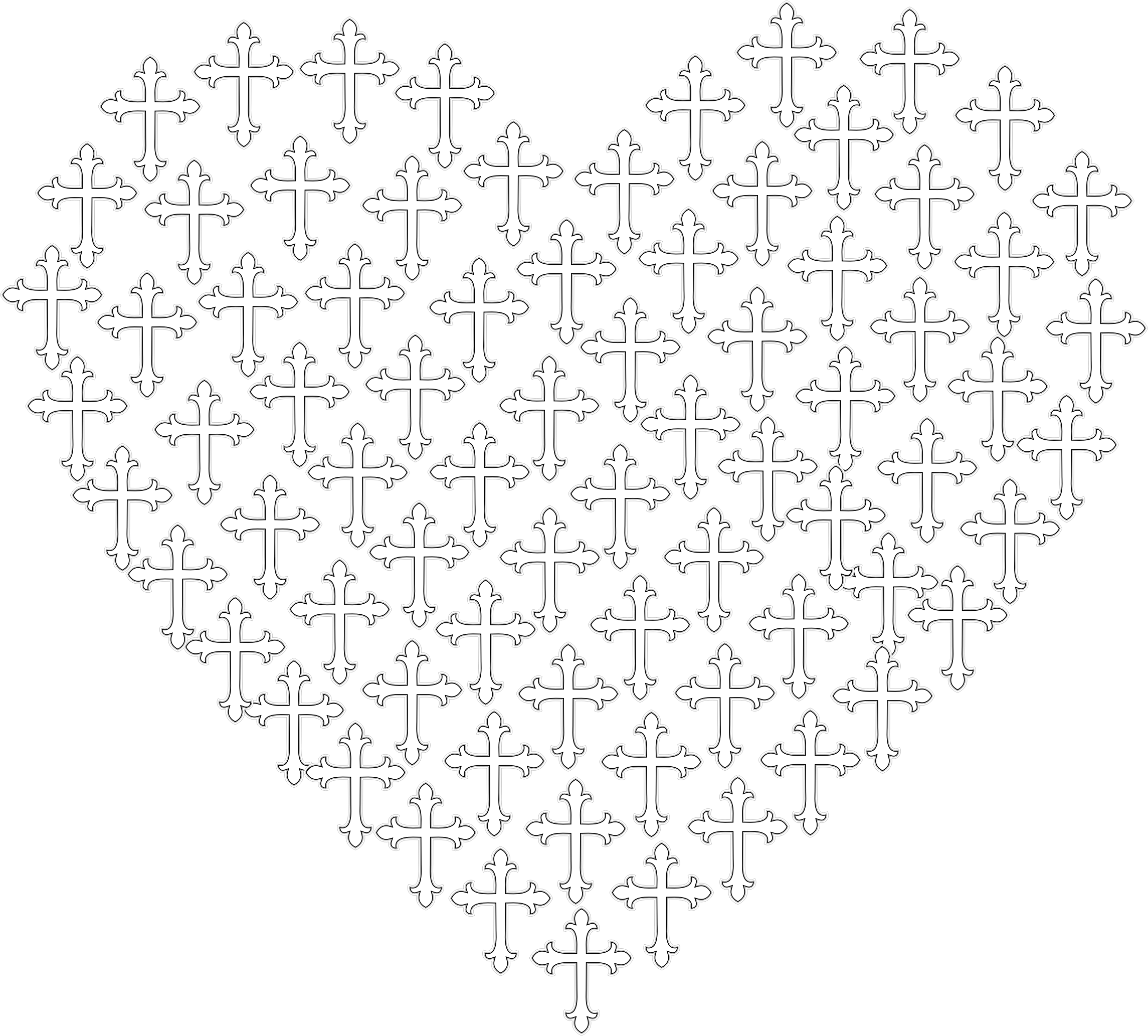 Love Heart Crosses No Background by GDJ