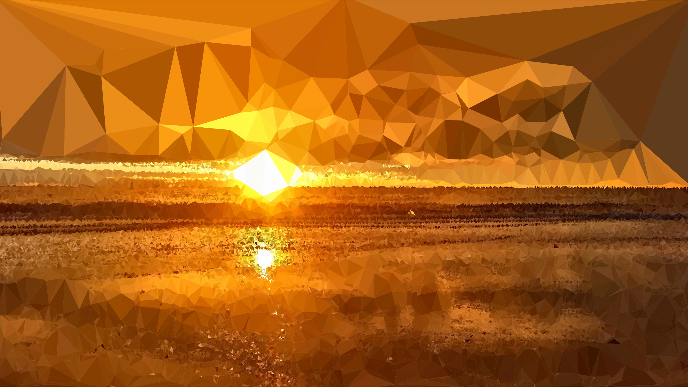Low Poly Lens Flare Sunset by GDJ