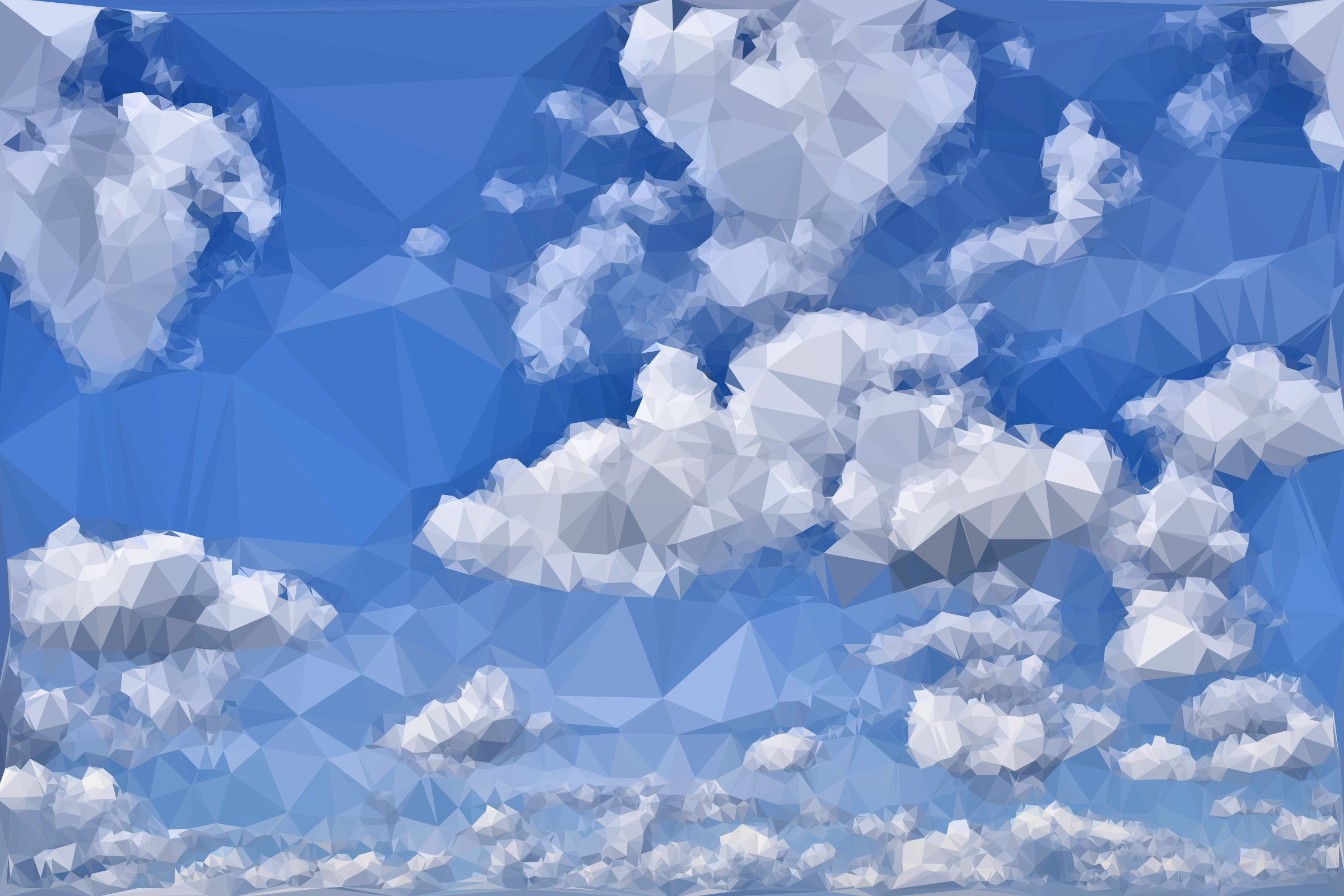 Clipart Low Poly Blue Sky 4
