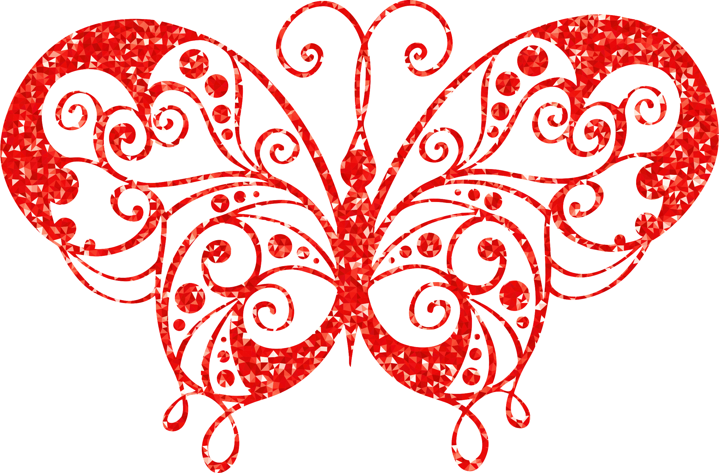 Ruby High Detail Flourish Butterfly Silhouette Fixed by GDJ