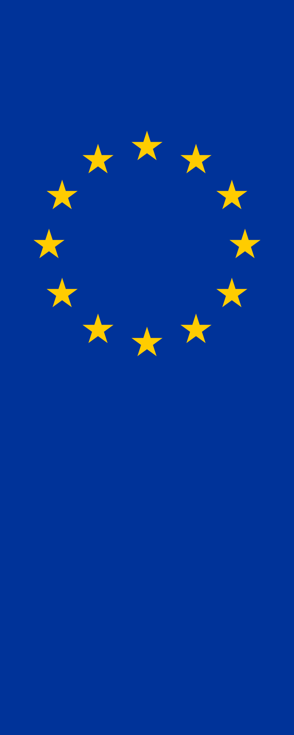 Vertical Flag of Europe by AdamStanislav